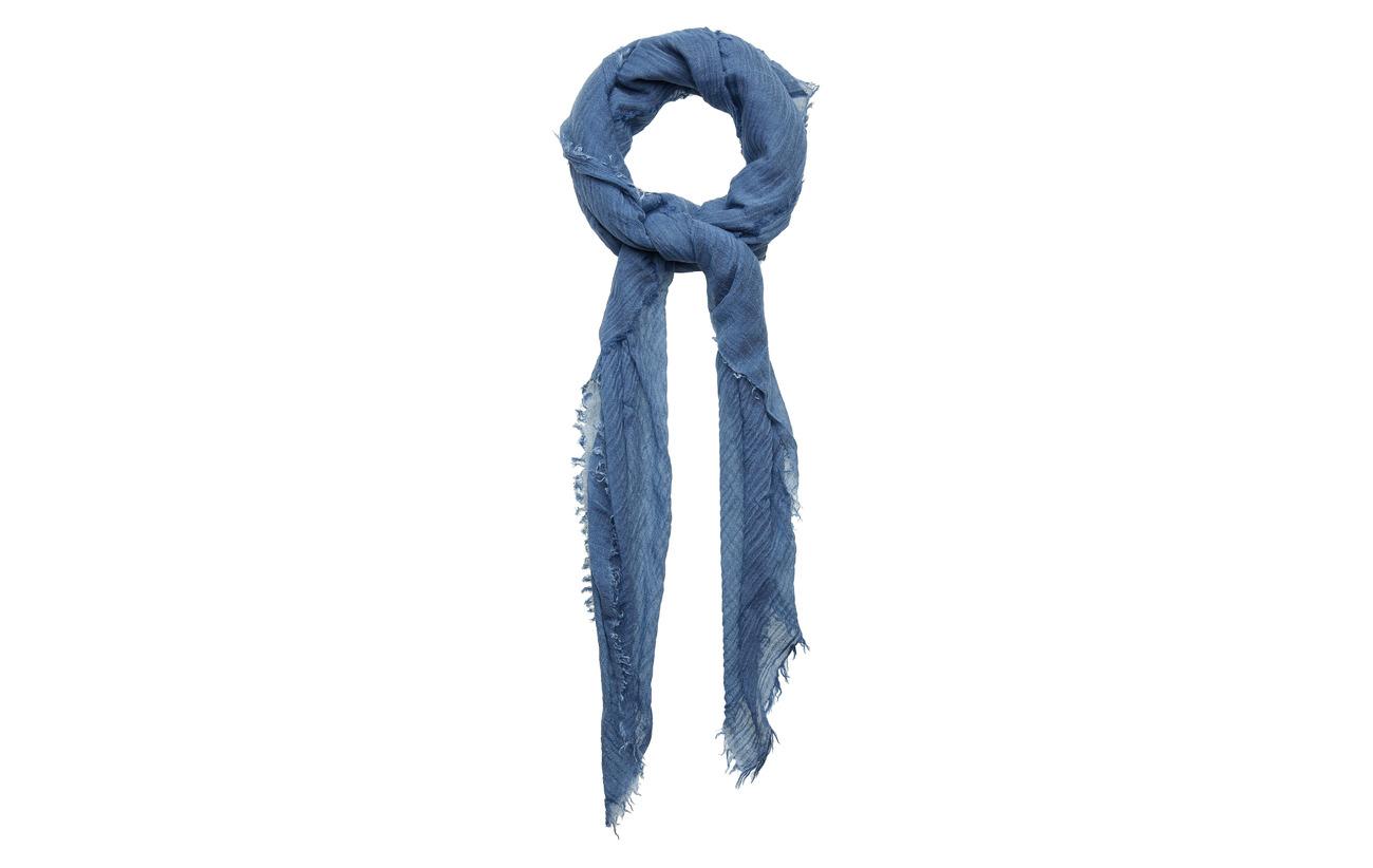 Polo Ralph Lauren Frayed Scarf - LIGHT BLUE