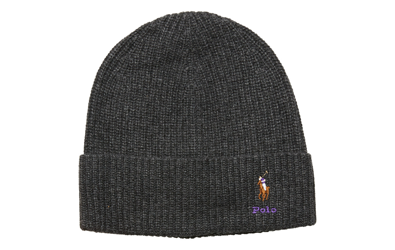 Polo Ralph Lauren VISCOSE BLEND-CARD HAT-HAT - CHARCOAL