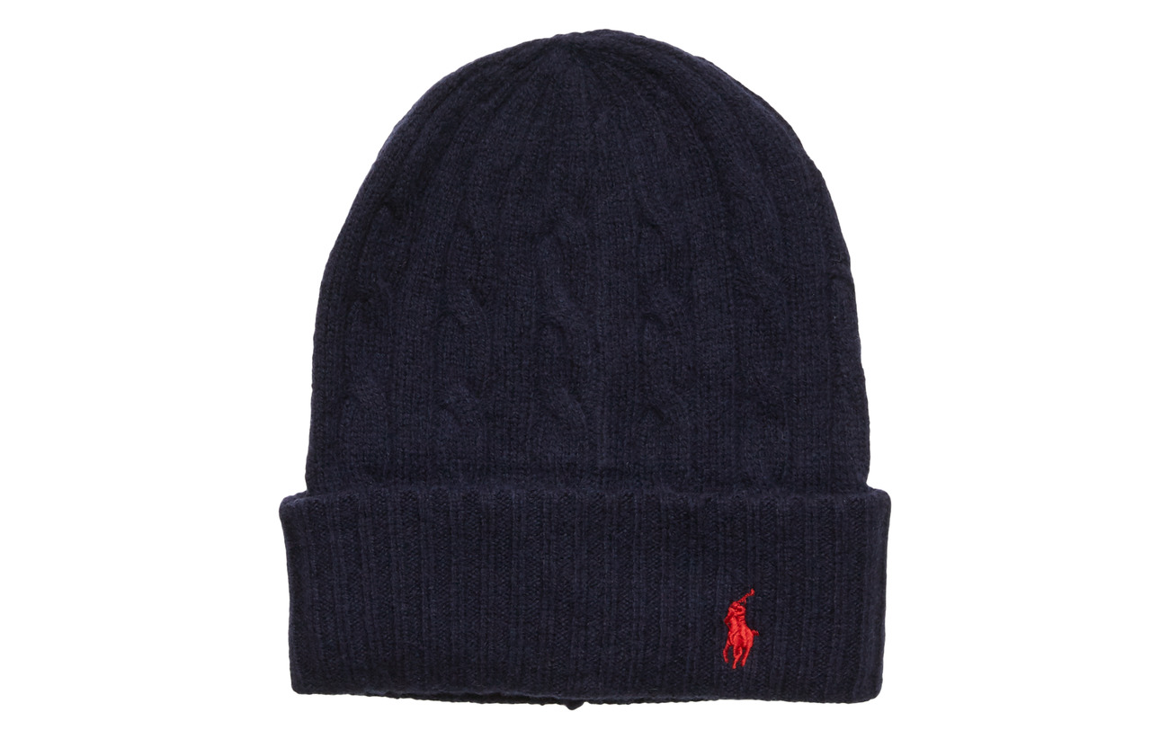Polo Ralph Lauren WOOL/CASHMERE-CABLE-HAT - NAVY