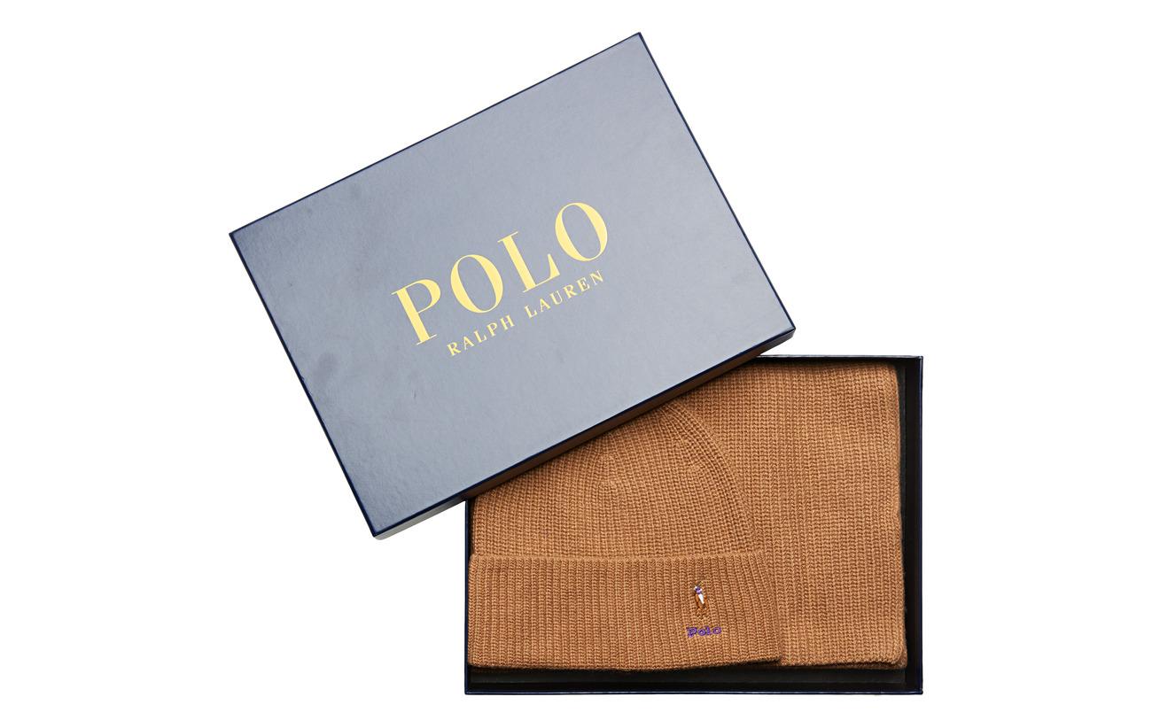Polo Ralph Lauren VISCOSE BLEND-SIGN BOX2-OBS - CAMEL