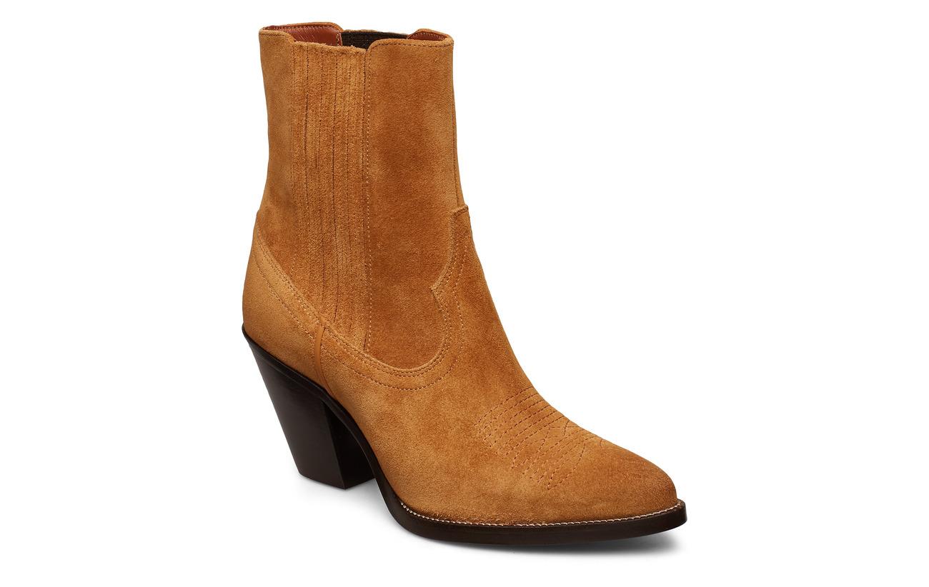 Polo Ralph Lauren Lowrey Suede Cowboy Boot - SAND