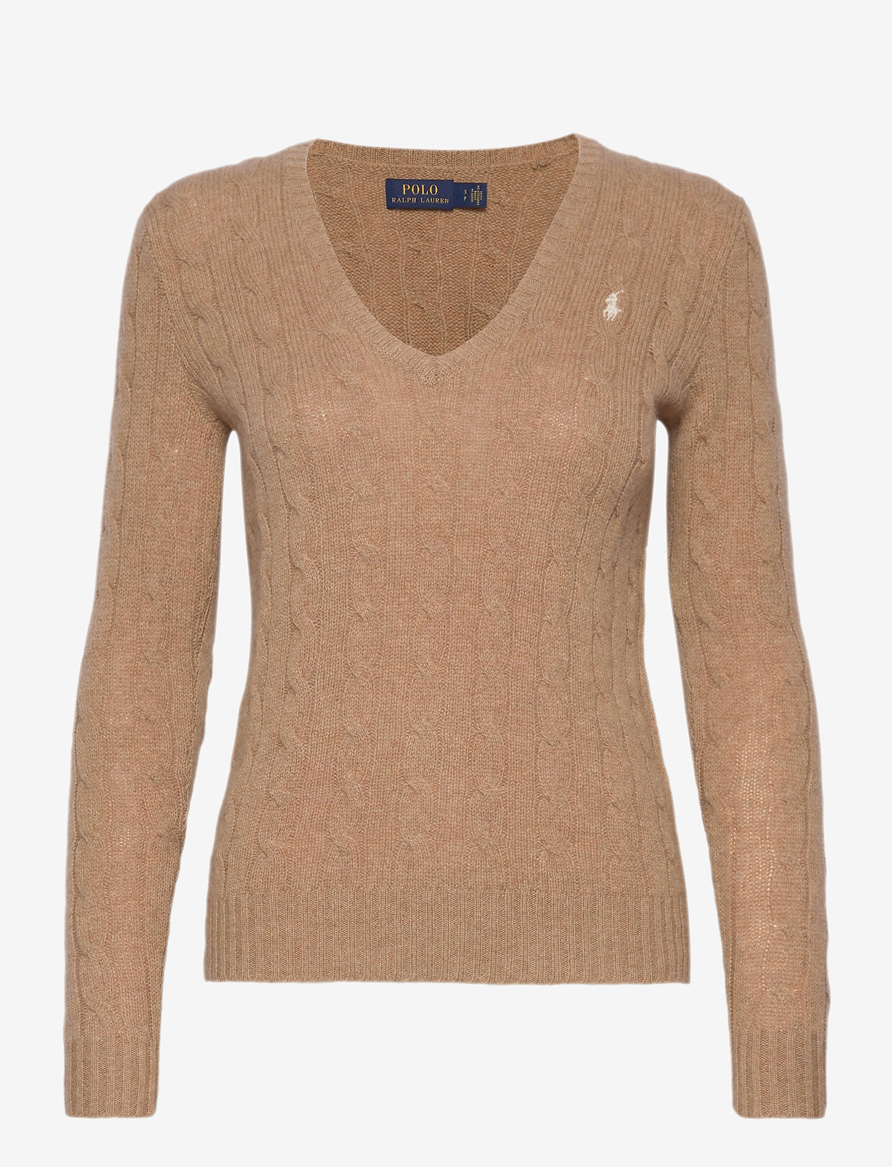 Polo Ralph Lauren - Cable Wool-Cashmere Sweater - jumpers - luxury beige heat - 0