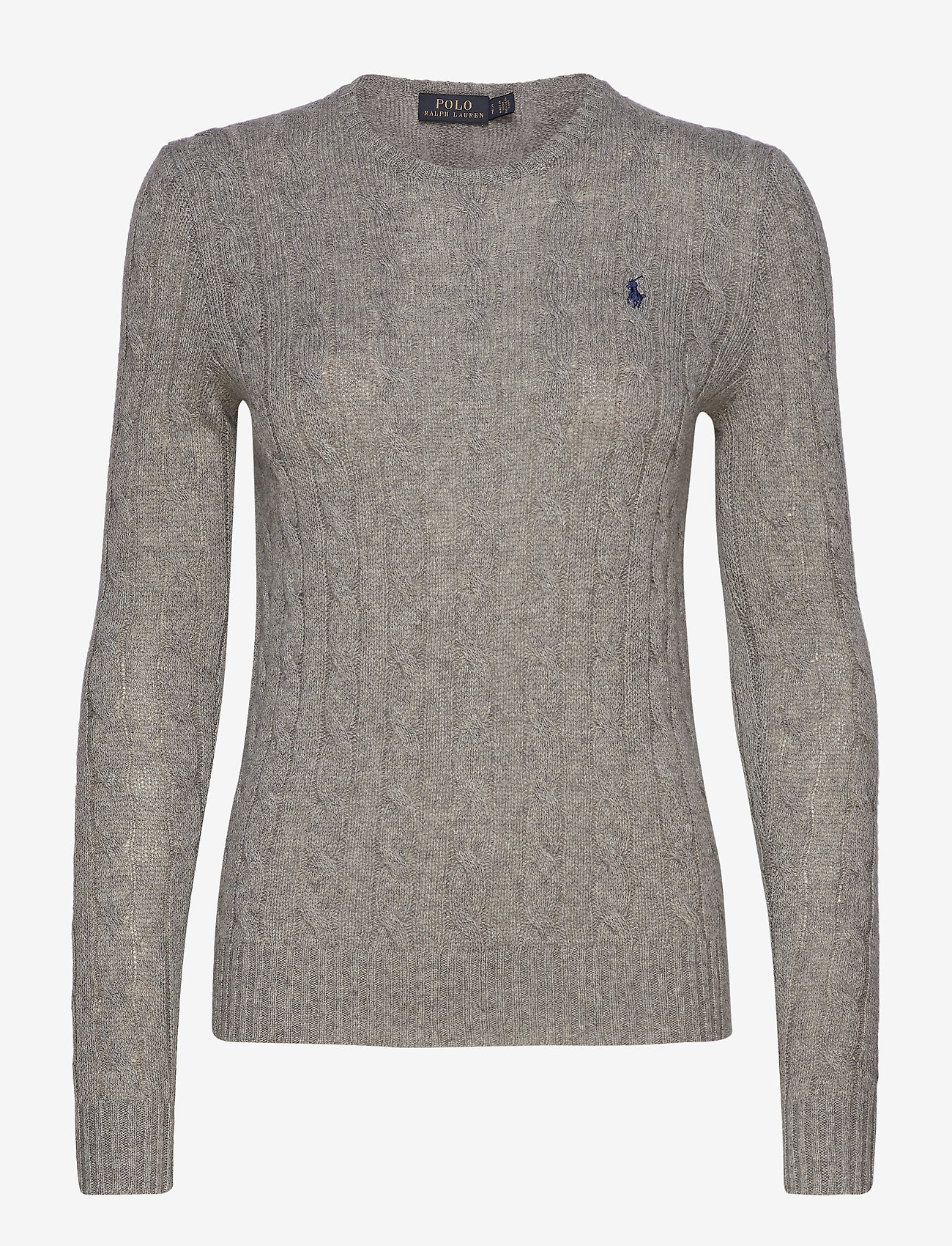 Polo Ralph Lauren - Cable Wool-Cashmere Sweater - truien - fawn grey heather - 1