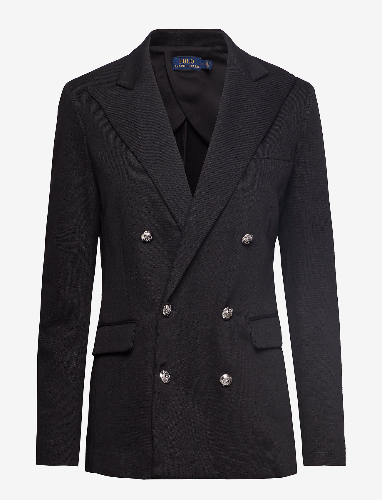 Polo Ralph Lauren - Knit Double-Breasted Blazer - blazers - polo black