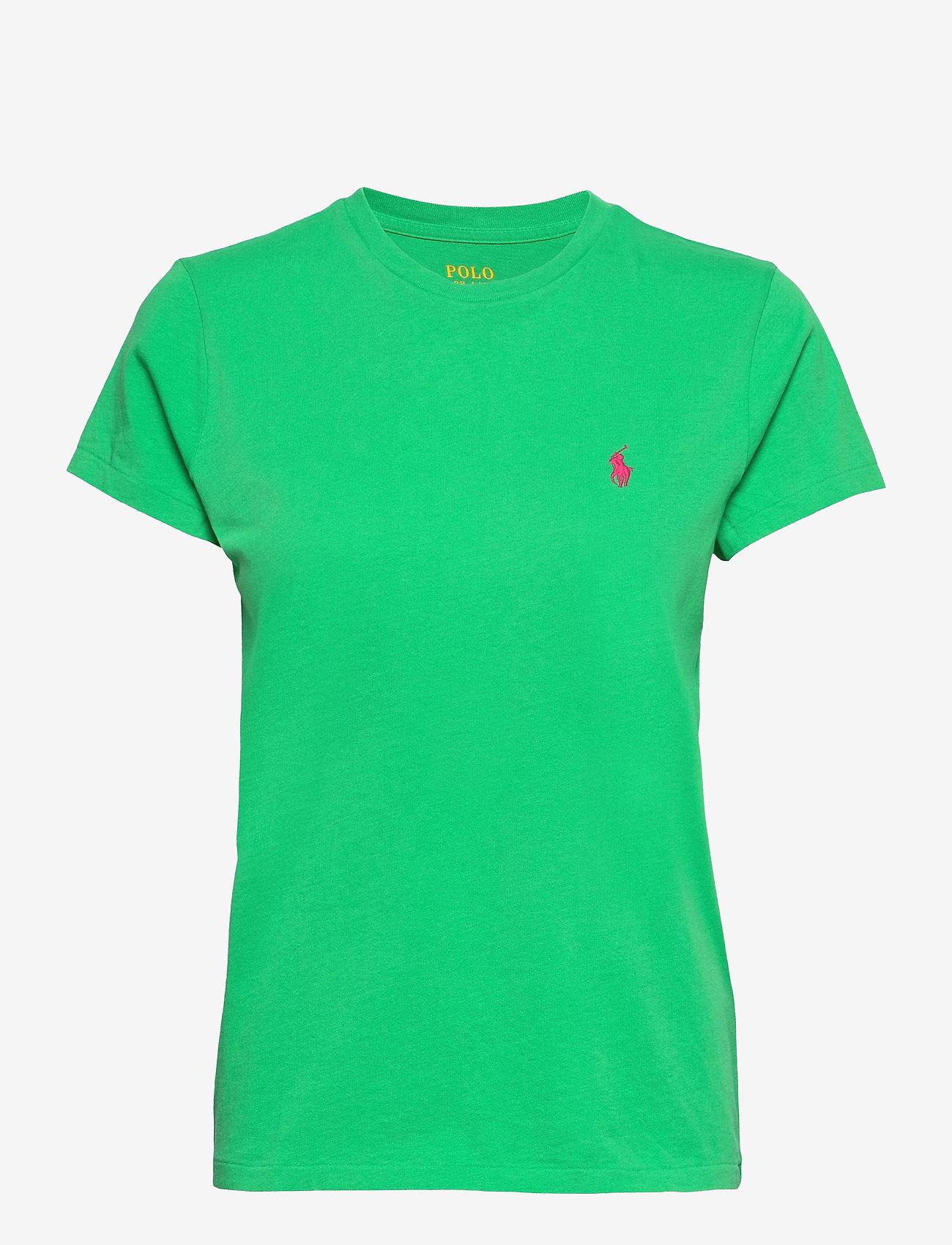 Polo Ralph Lauren - Cotton Jersey Crewneck Tee - t-shirts - golf green - 1