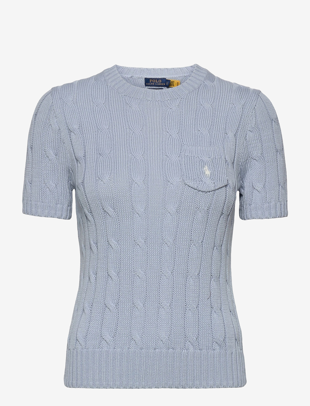 Polo Ralph Lauren - Cable Short-Sleeve Sweater - strikkede toppe - pale blue - 1