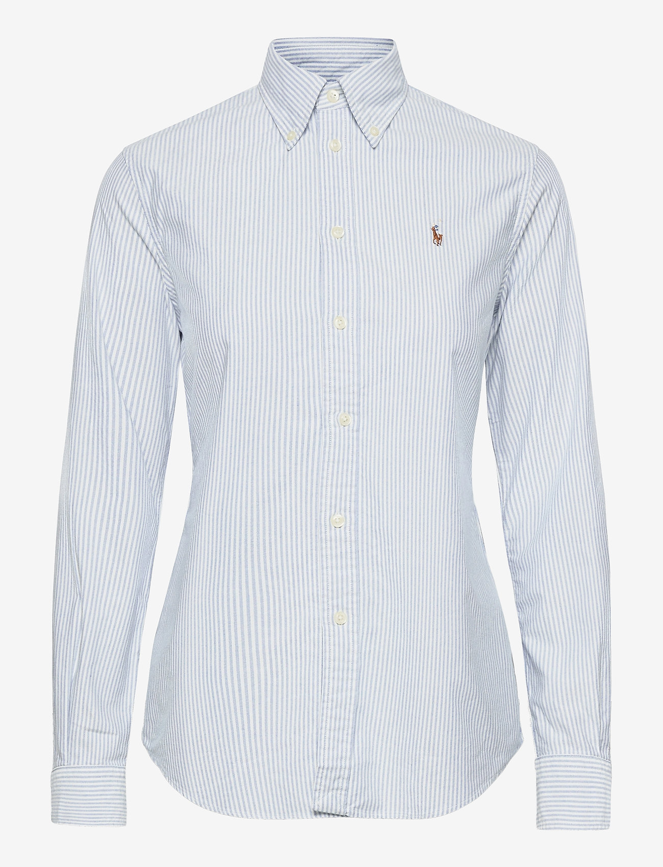 Polo Ralph Lauren - Slim Fit Cotton Oxford Shirt - long-sleeved shirts - bsr blue/white - 0