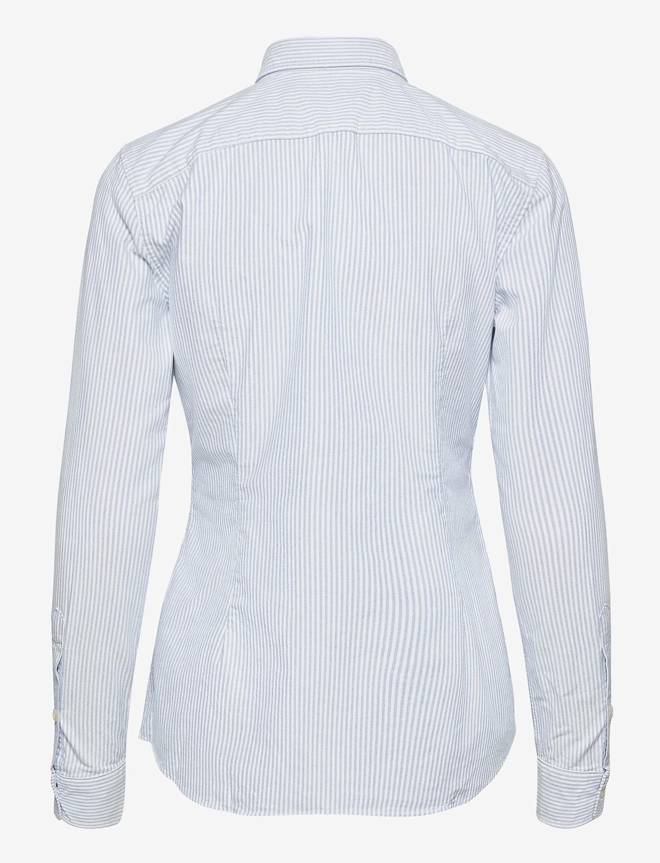 Polo Ralph Lauren - Slim Fit Cotton Oxford Shirt - long-sleeved shirts - bsr blue/white - 1