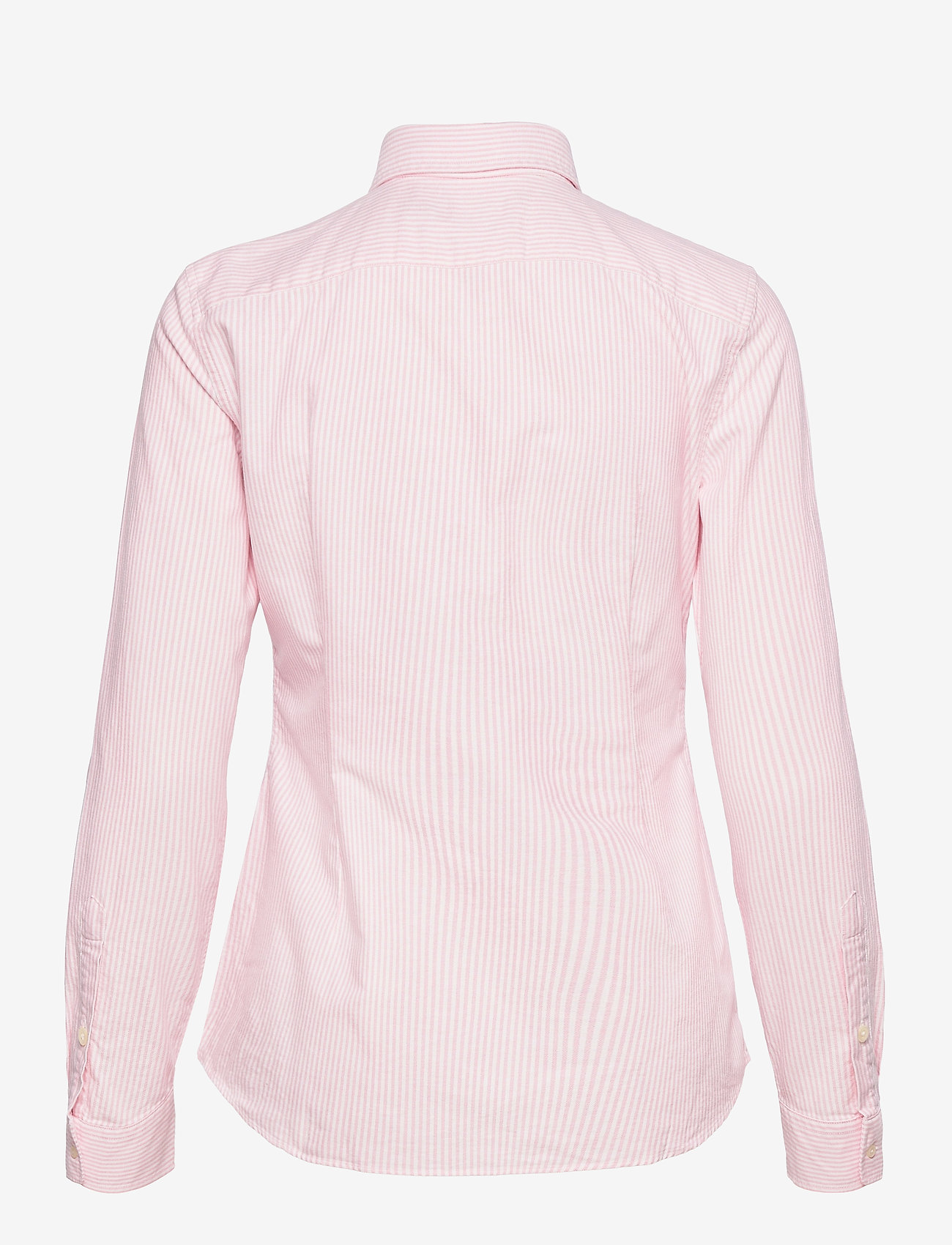 Polo Ralph Lauren - Slim Fit Cotton Oxford Shirt - long-sleeved shirts - bsr pink/white - 1