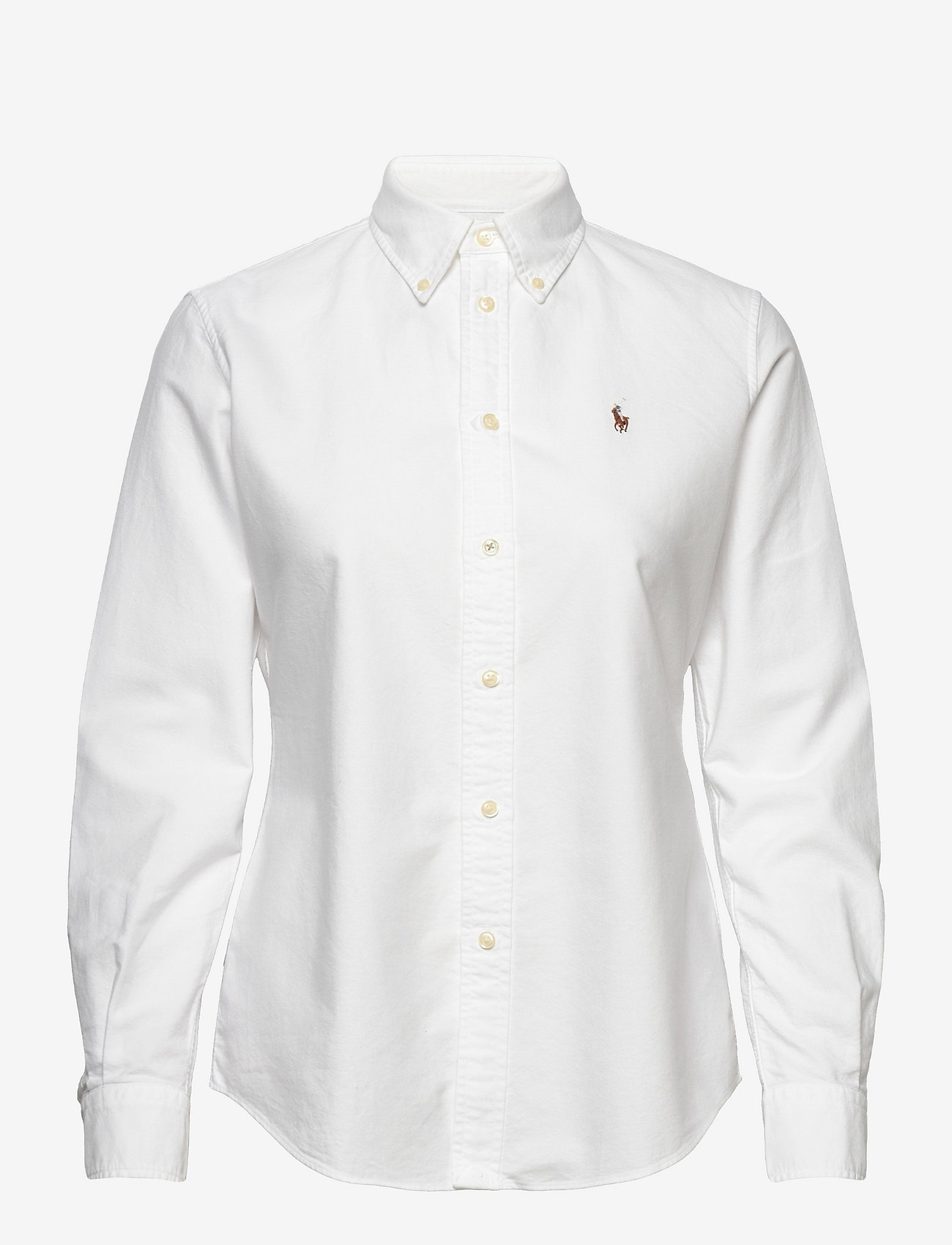 Polo Ralph Lauren - Slim Fit Cotton Oxford Shirt - long-sleeved shirts - bsr white - 0
