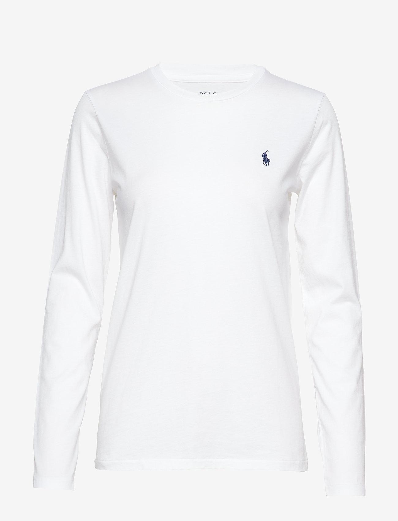 Polo Ralph Lauren - Jersey Long-Sleeve Shirt - langærmede toppe - white - 1