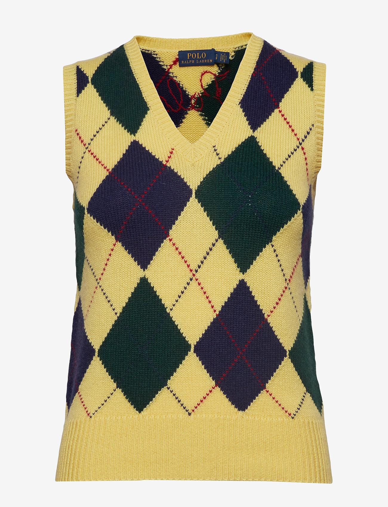 Polo Ralph Lauren - Argyle Sweater Vest - kamizelki - yellow multi - 0