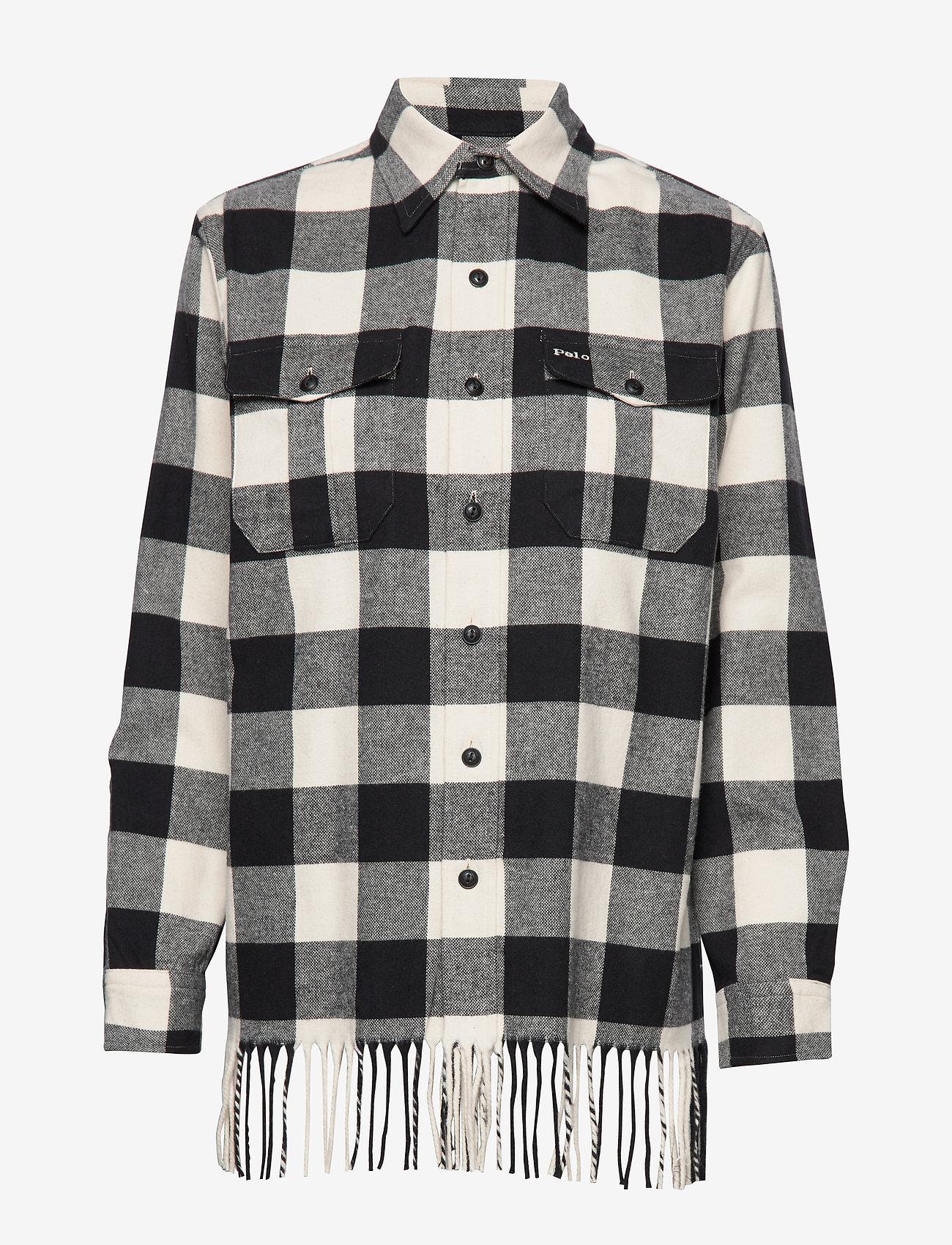 Polo Ralph Lauren - BRUSHED COTTON-LSL-SHT - overshirts - 407 black/cream - 0