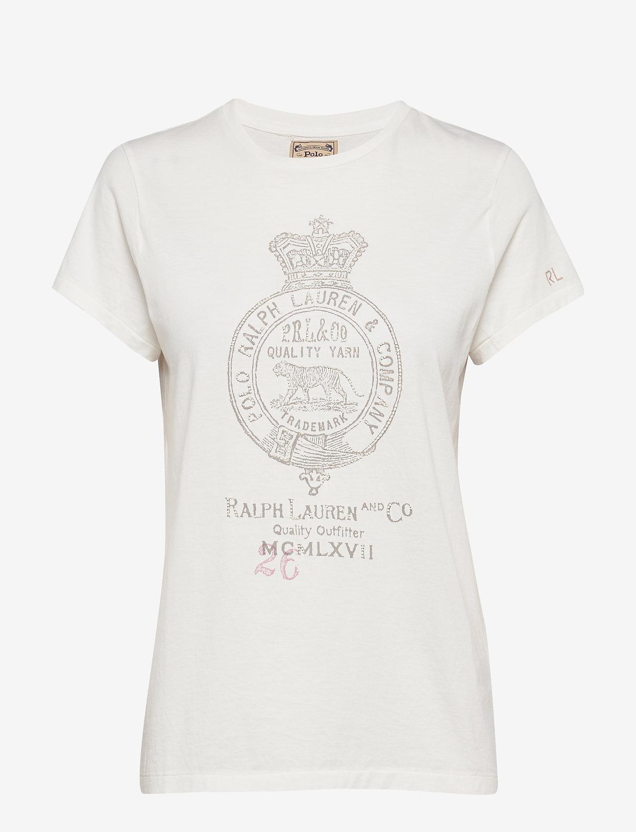 Polo Ralph Lauren Cotton Crest-Graphic Tee - T-shirty i zopy NEVIS - Kobiety Odzież.