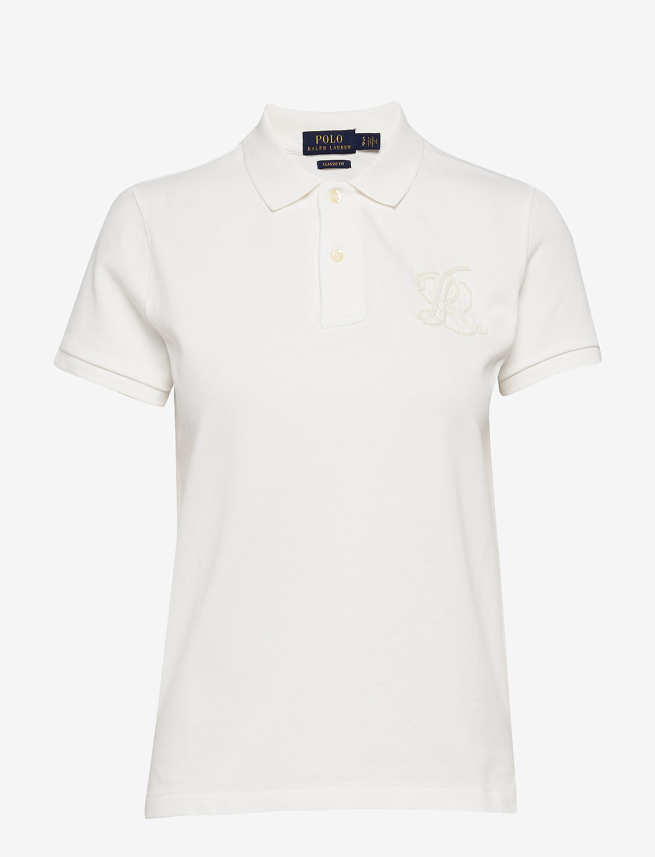 Polo Ralph Lauren - Classic Fit Beaded Polo Shirt - pikeepaidat - deckwash white - 1
