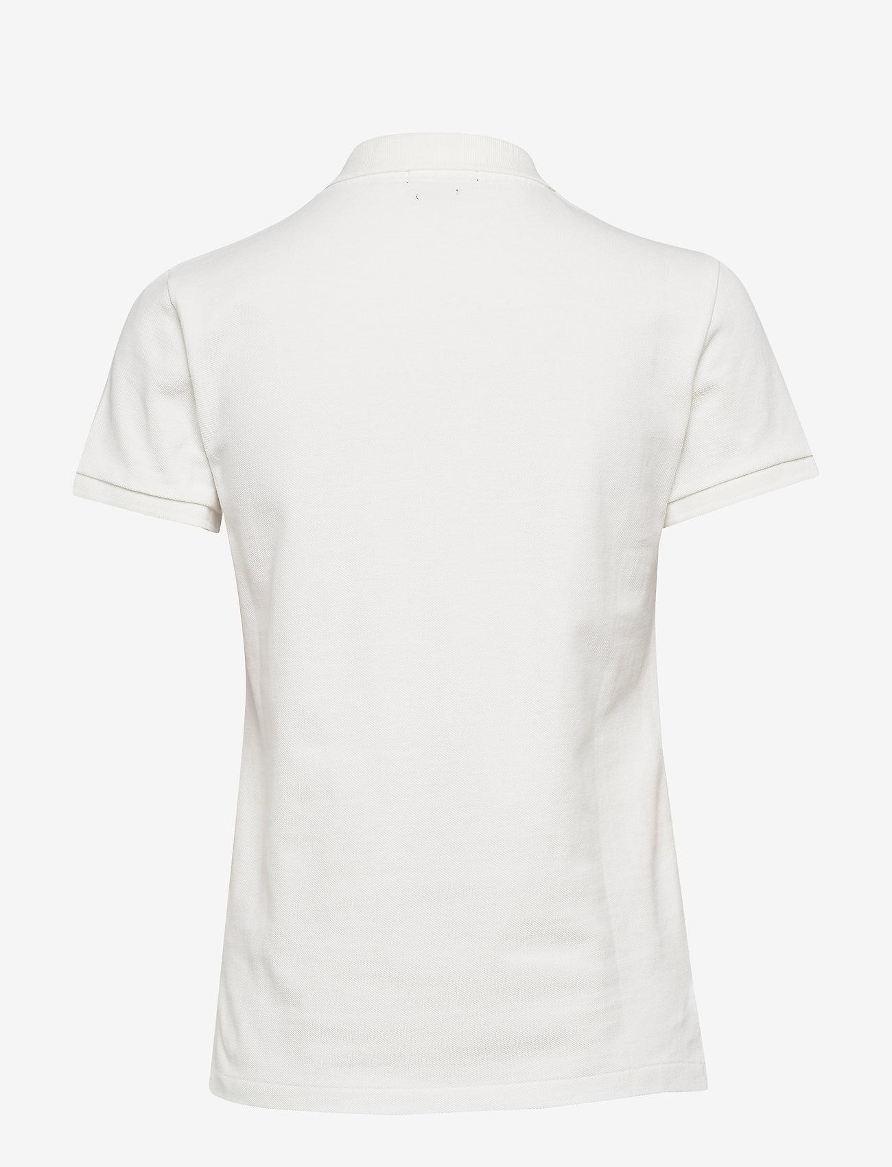 Polo Ralph Lauren - Classic Fit Beaded Polo Shirt - koszulki polo - deckwash white - 1
