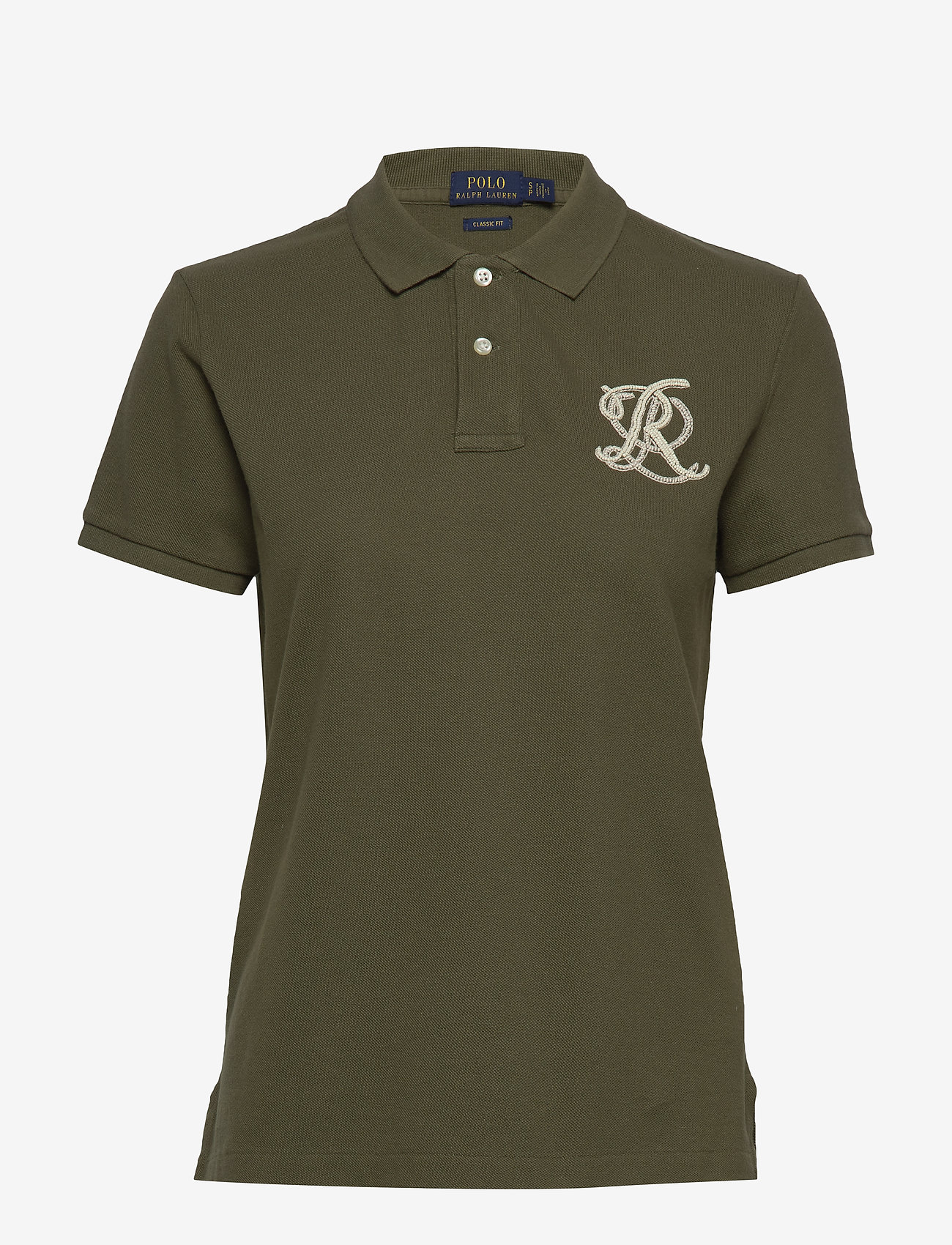 Polo Ralph Lauren - Classic Fit Beaded Polo Shirt - basic t-shirts - defender green - 0