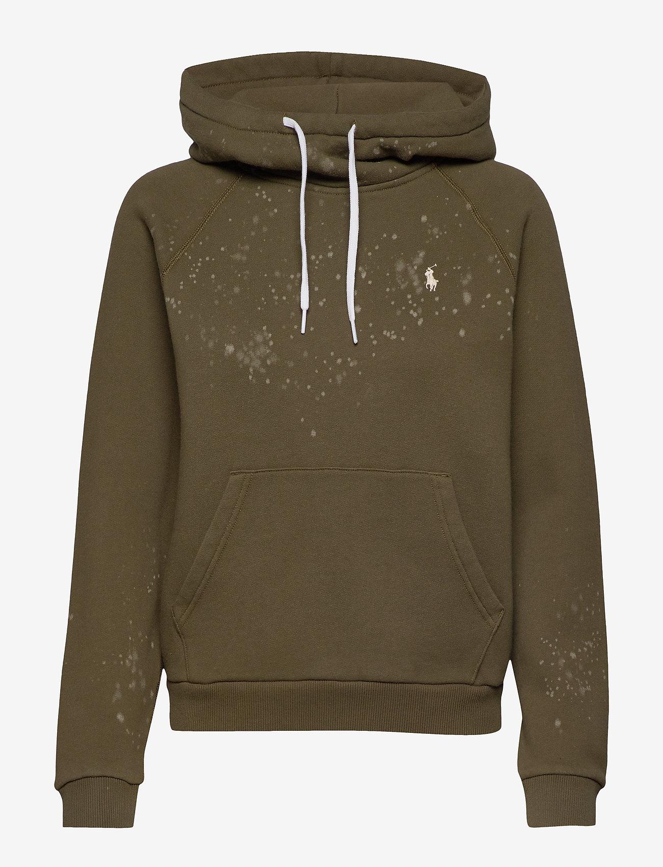 Polo Ralph Lauren - Acid-Wash Fleece Hoodie - hoodies - defender green - 0