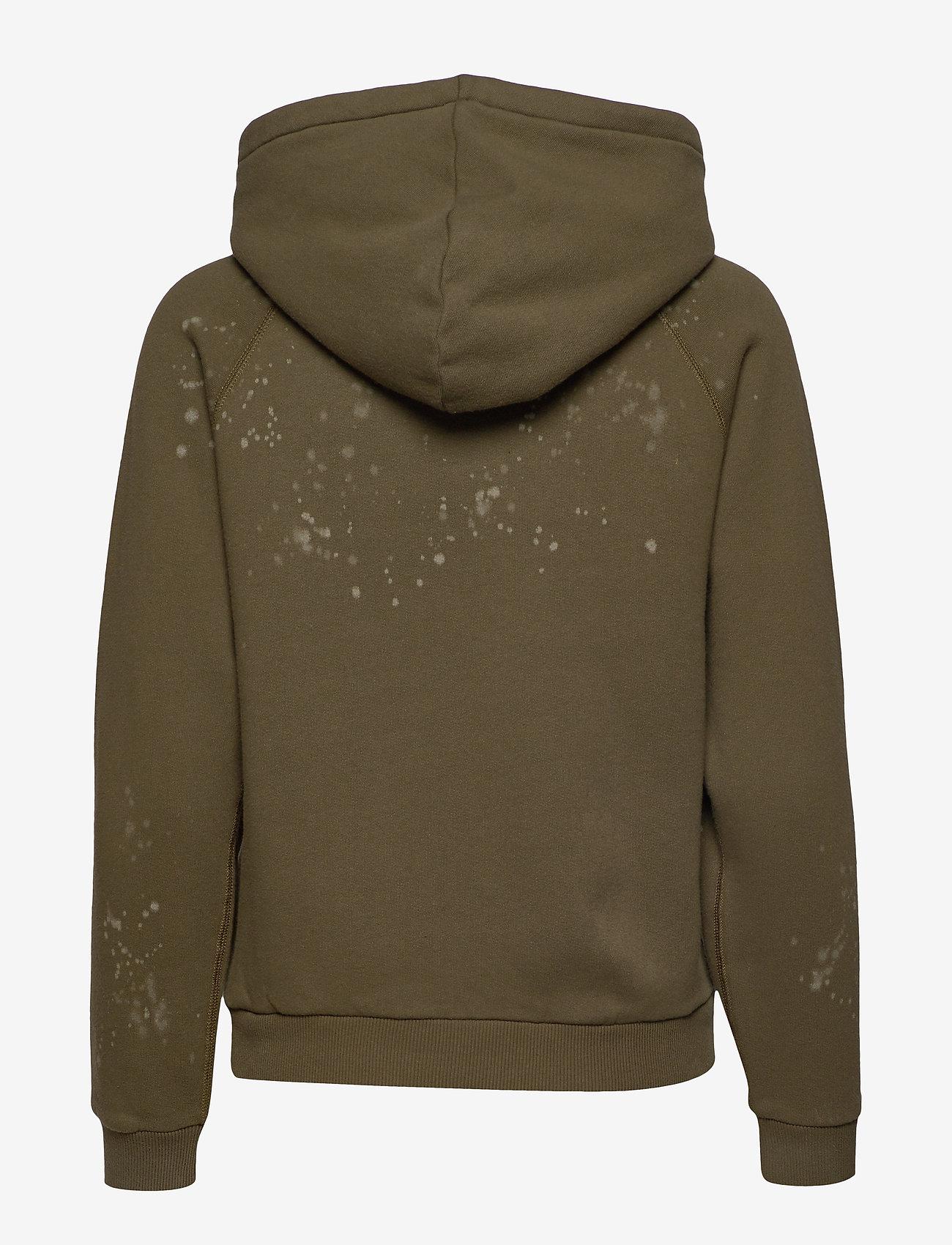 Polo Ralph Lauren - Acid-Wash Fleece Hoodie - hoodies - defender green - 1