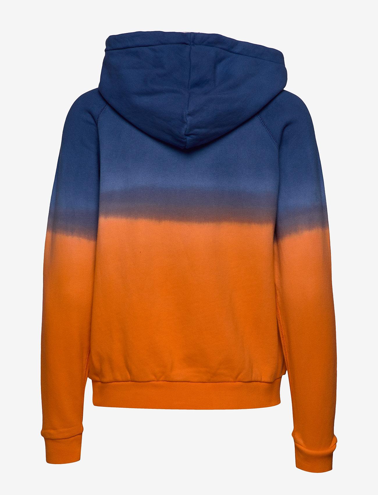 Polo Ralph Lauren - Ombré Fleece Hoodie - hoodies - navy/ orange ombr - 1
