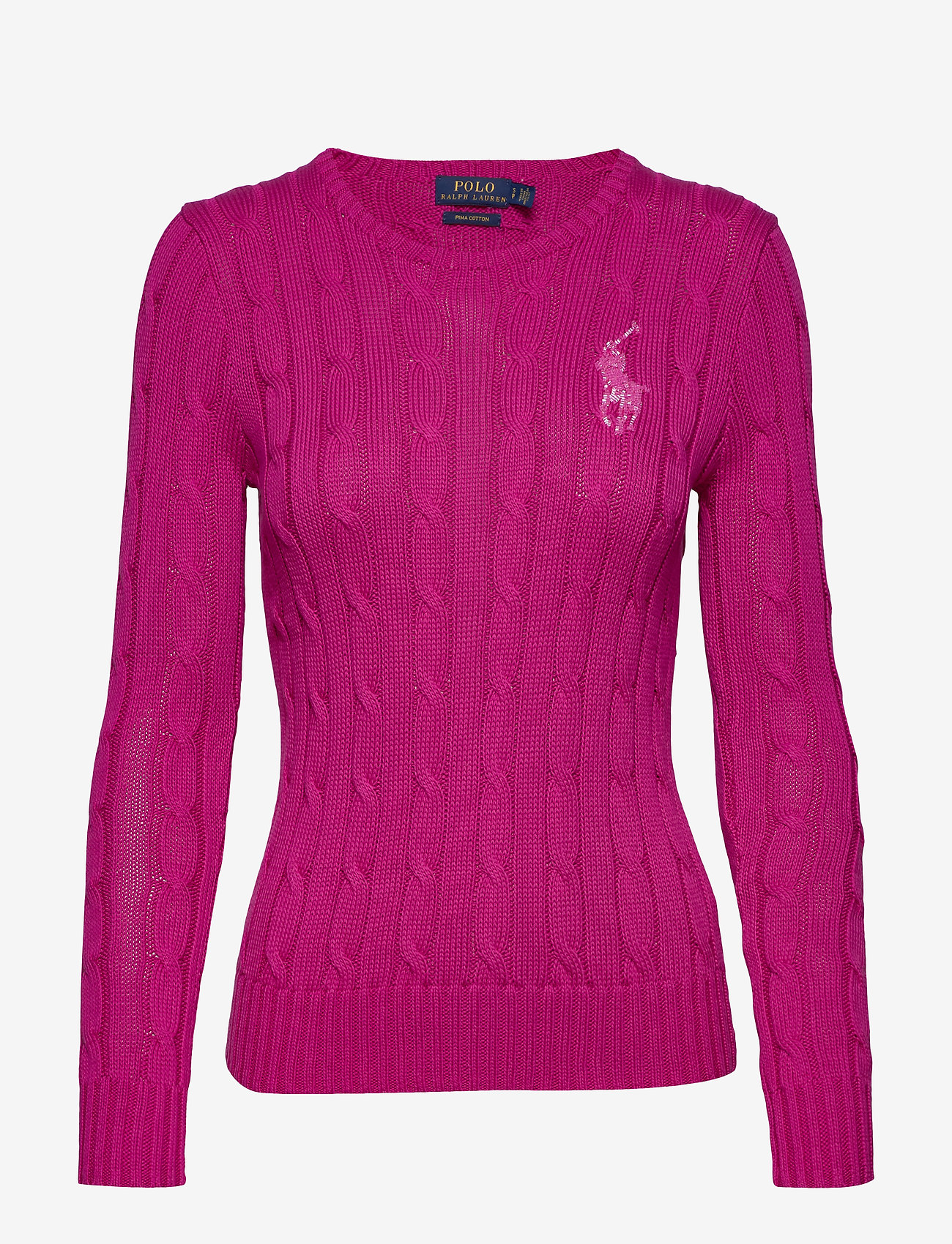 Polo Ralph Lauren - Cable-Knit Cotton Sweater - jumpers - accent pink