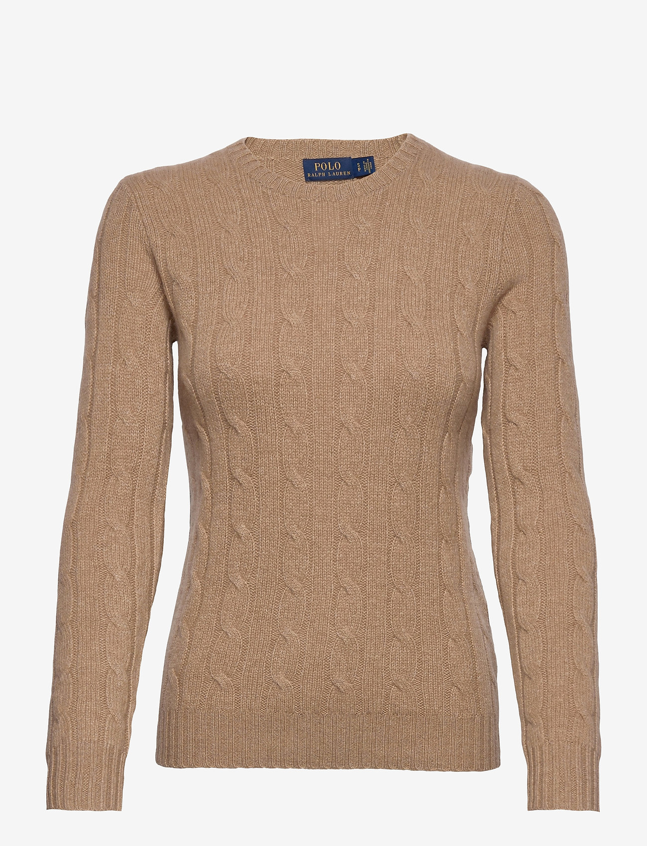Polo Ralph Lauren - Cable-Knit Cashmere Sweater - swetry - luxury beige heat - 0