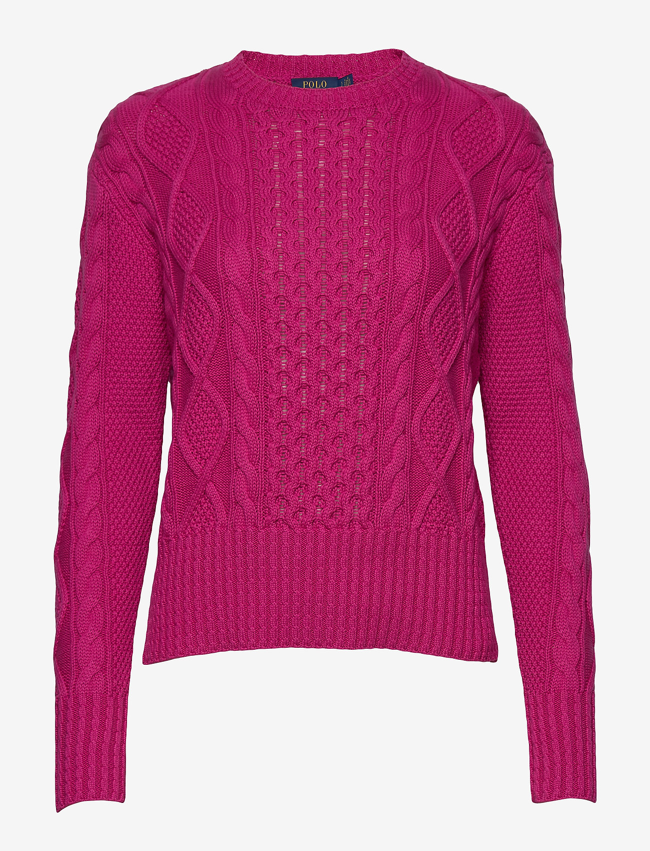 Polo Ralph Lauren - Cotton Cable-Knit Sweater - jumpers - accent pink - 0