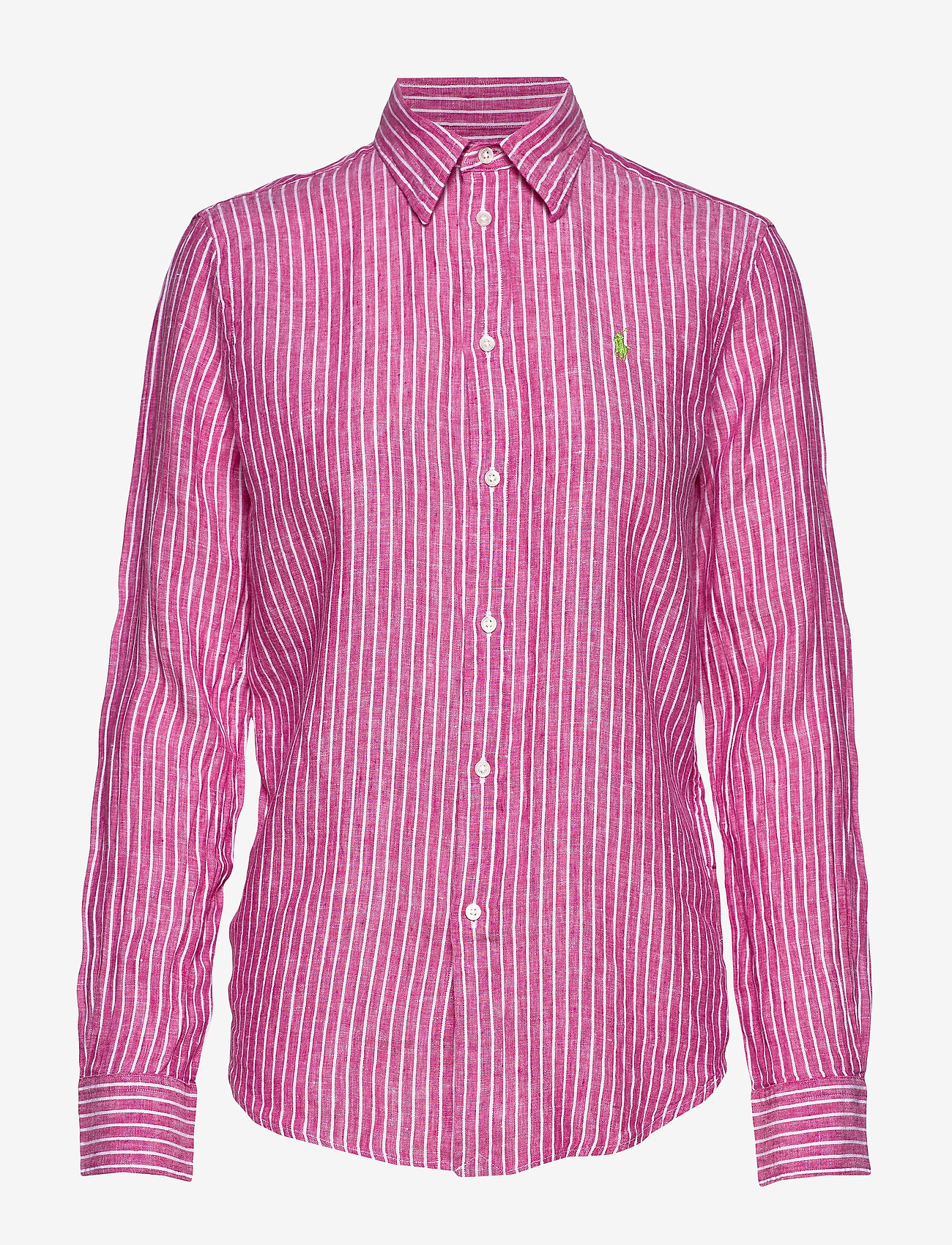 Polo Ralph Lauren - Relaxed Fit Linen Shirt - long-sleeved shirts - 542a pink/white - 0