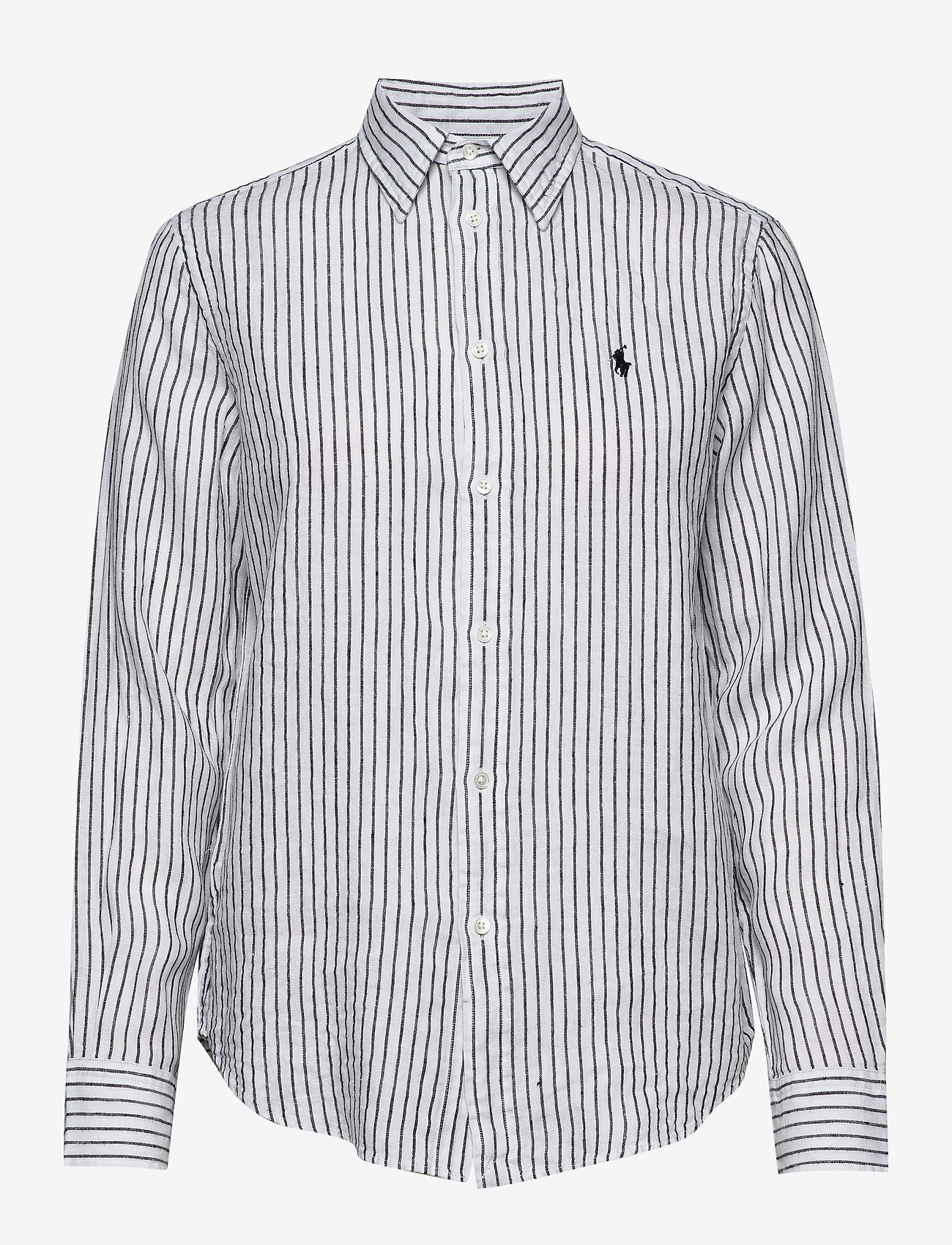 Polo Ralph Lauren - Relaxed Fit Linen Shirt - long-sleeved shirts - 542f white/polo b