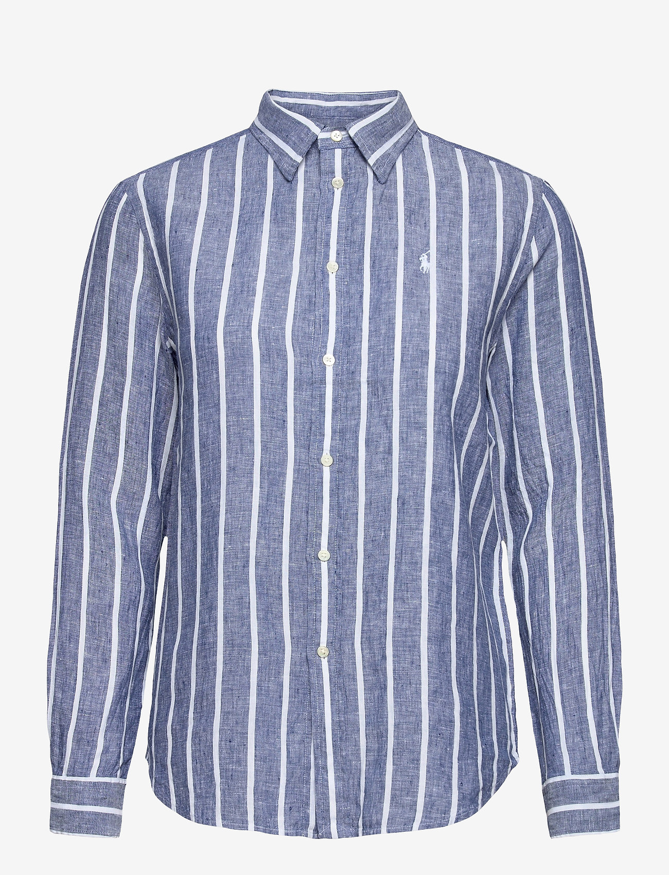 Polo Ralph Lauren - Relaxed Fit Linen Shirt - langærmede skjorter - 927 navy/white - 1