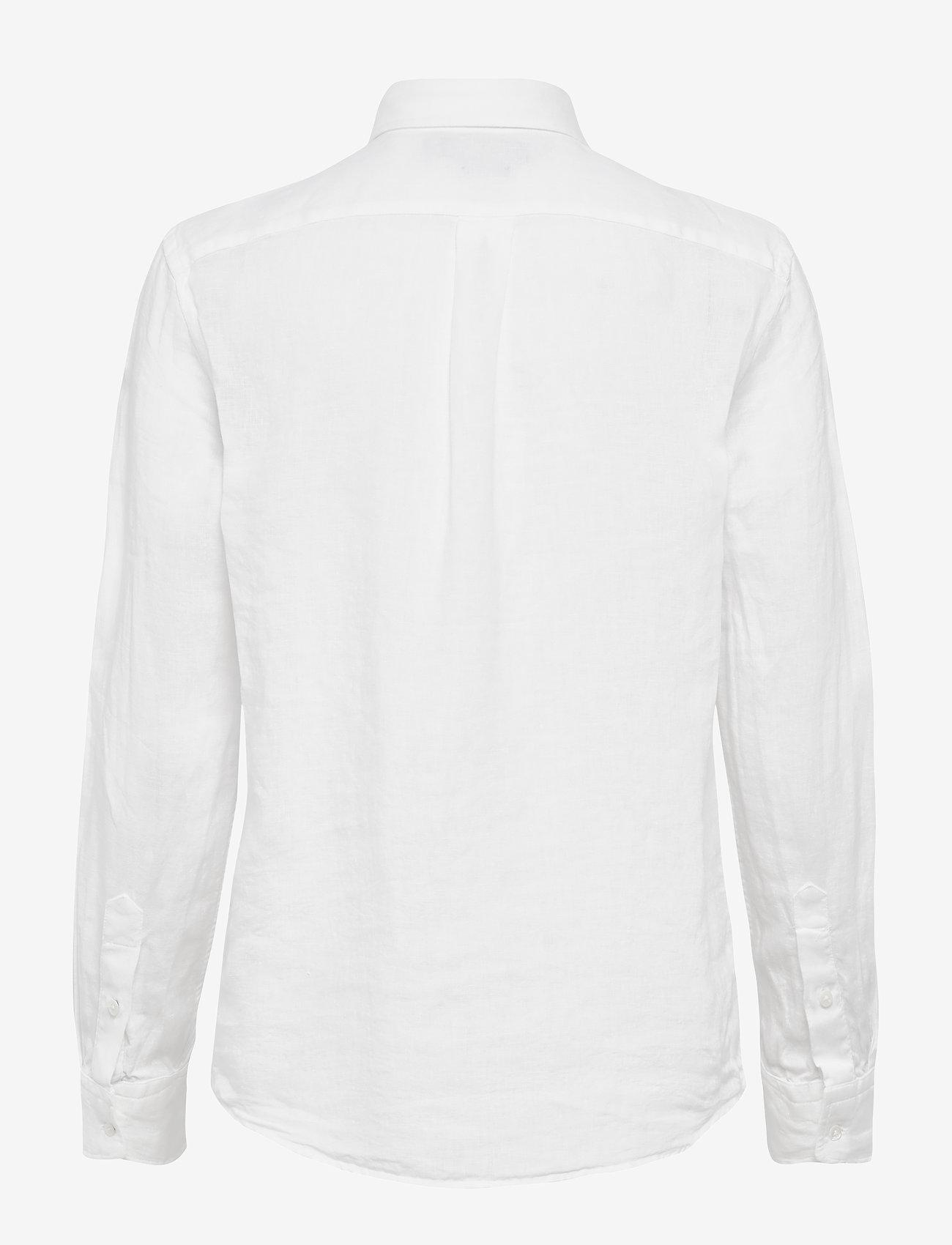 Polo Ralph Lauren - Relaxed Fit Linen Shirt - long-sleeved shirts - white