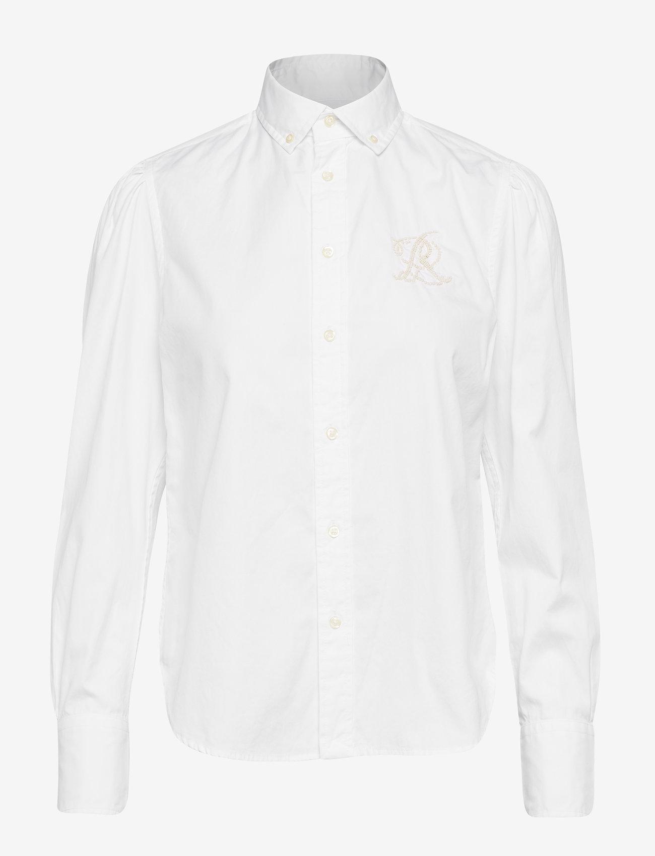 Polo Ralph Lauren - Cotton Oxford Shirt - long-sleeved shirts - bsr white - 0