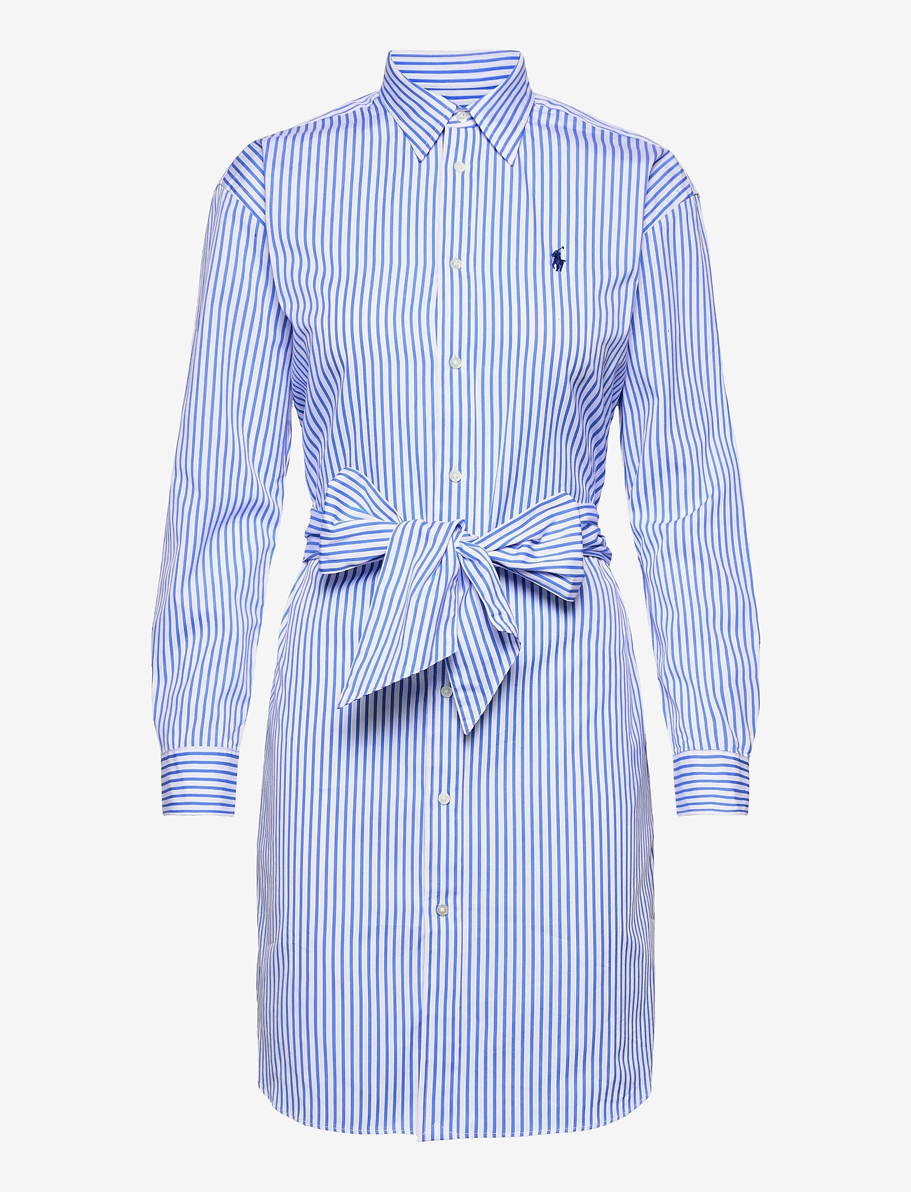 Polo Ralph Lauren - Striped Belted Shirtdress - everyday dresses - 784b white/blue - 1