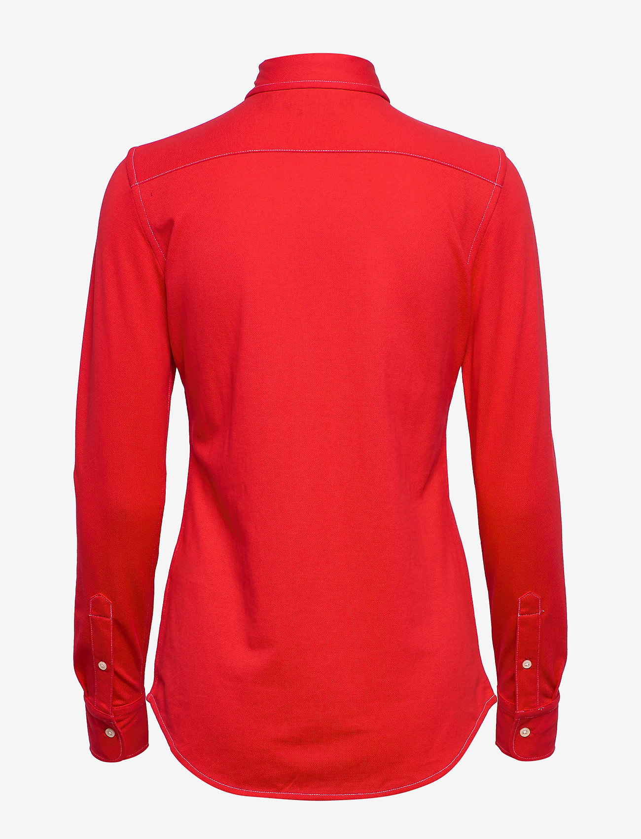 Polo Ralph Lauren - Cotton Knit Oxford Shirt - long-sleeved shirts - african red - 1