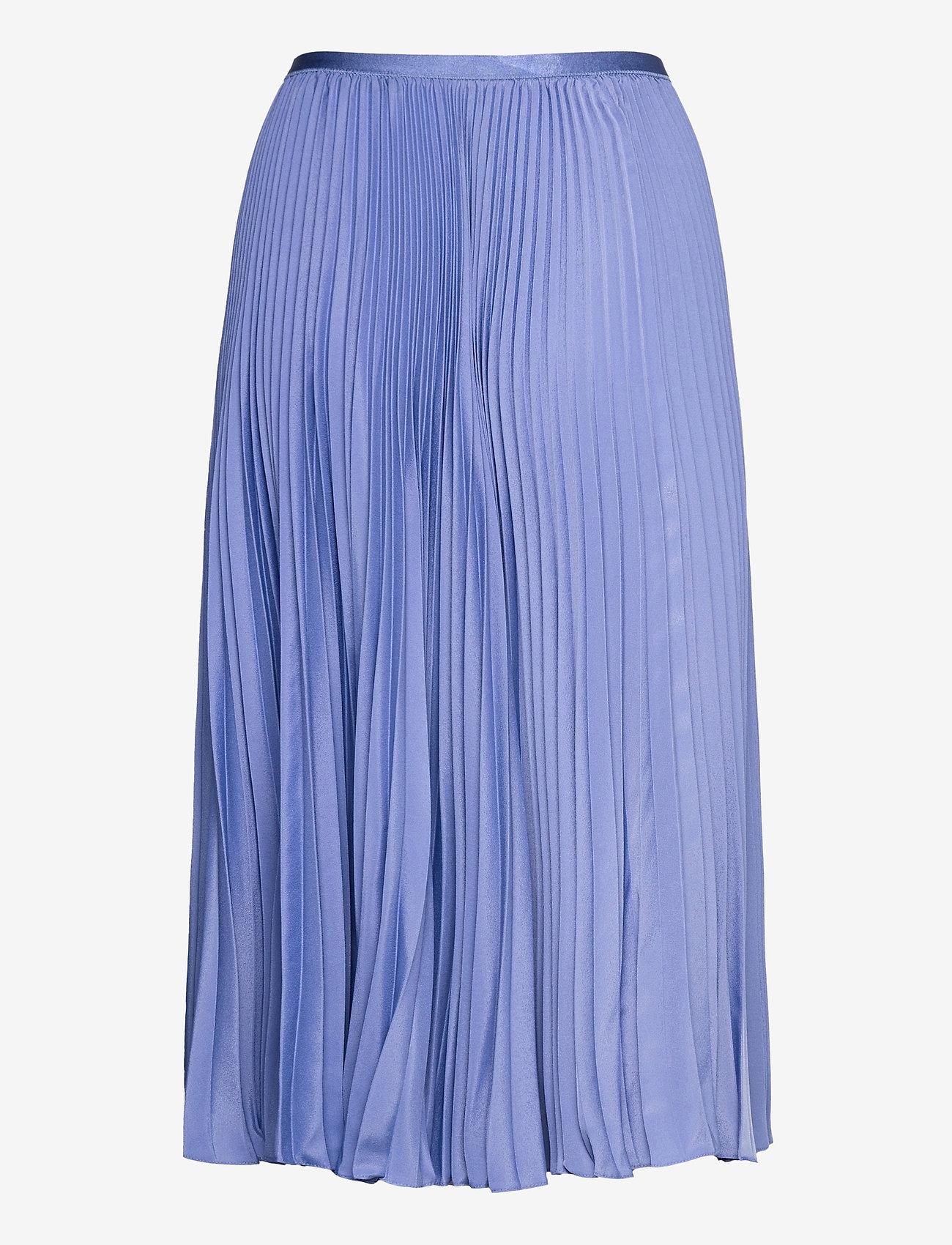 Polo Ralph Lauren - Pleated Midi Skirt - midinederdele - indigo sky - 1