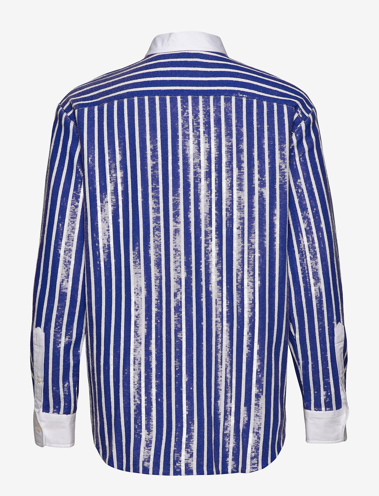 Polo Ralph Lauren - Sequined Stripe Shirt - koszule z długimi rękawami - blue/white - 1