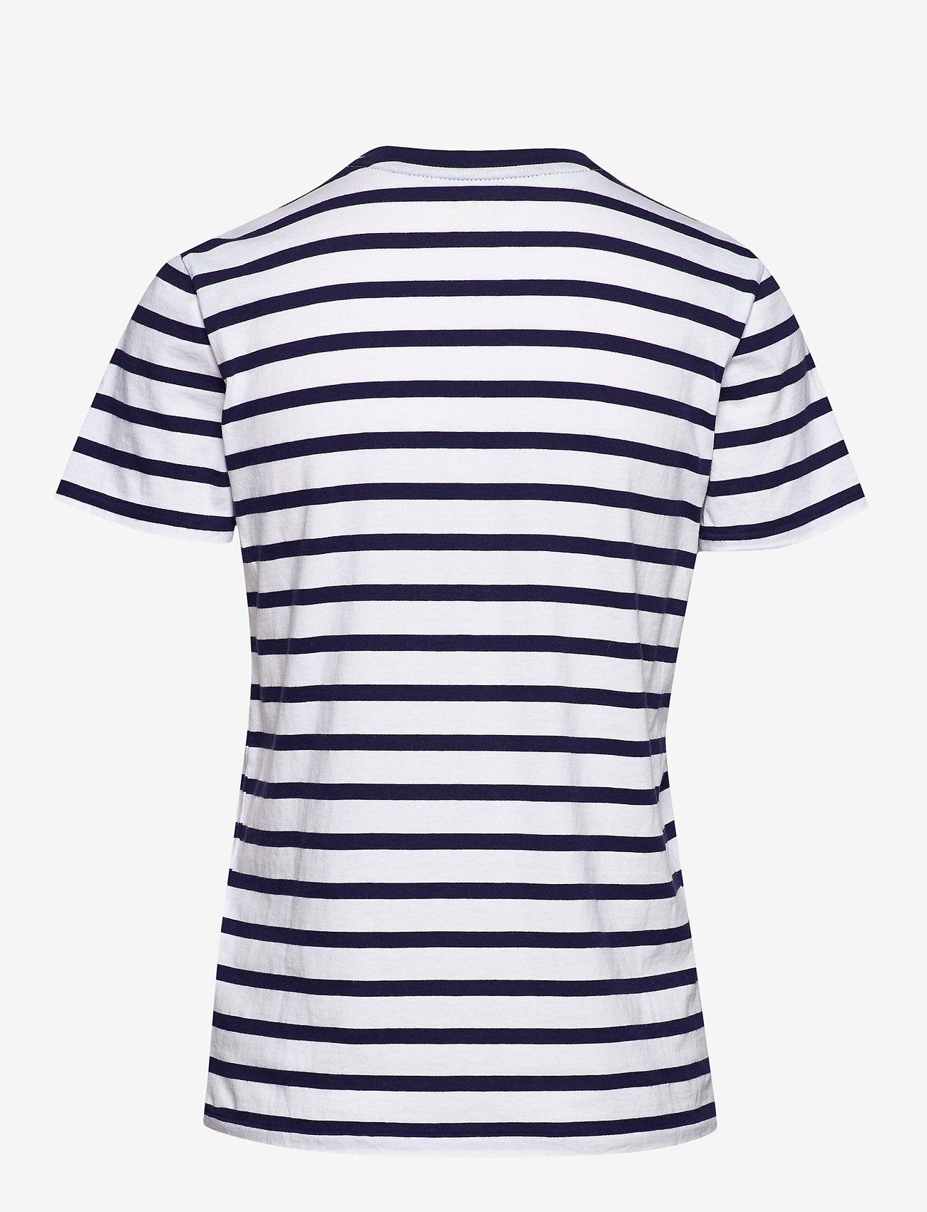 Polo Ralph Lauren - Striped Cotton Jersey Tee - logo t-shirts - white/cruise navy