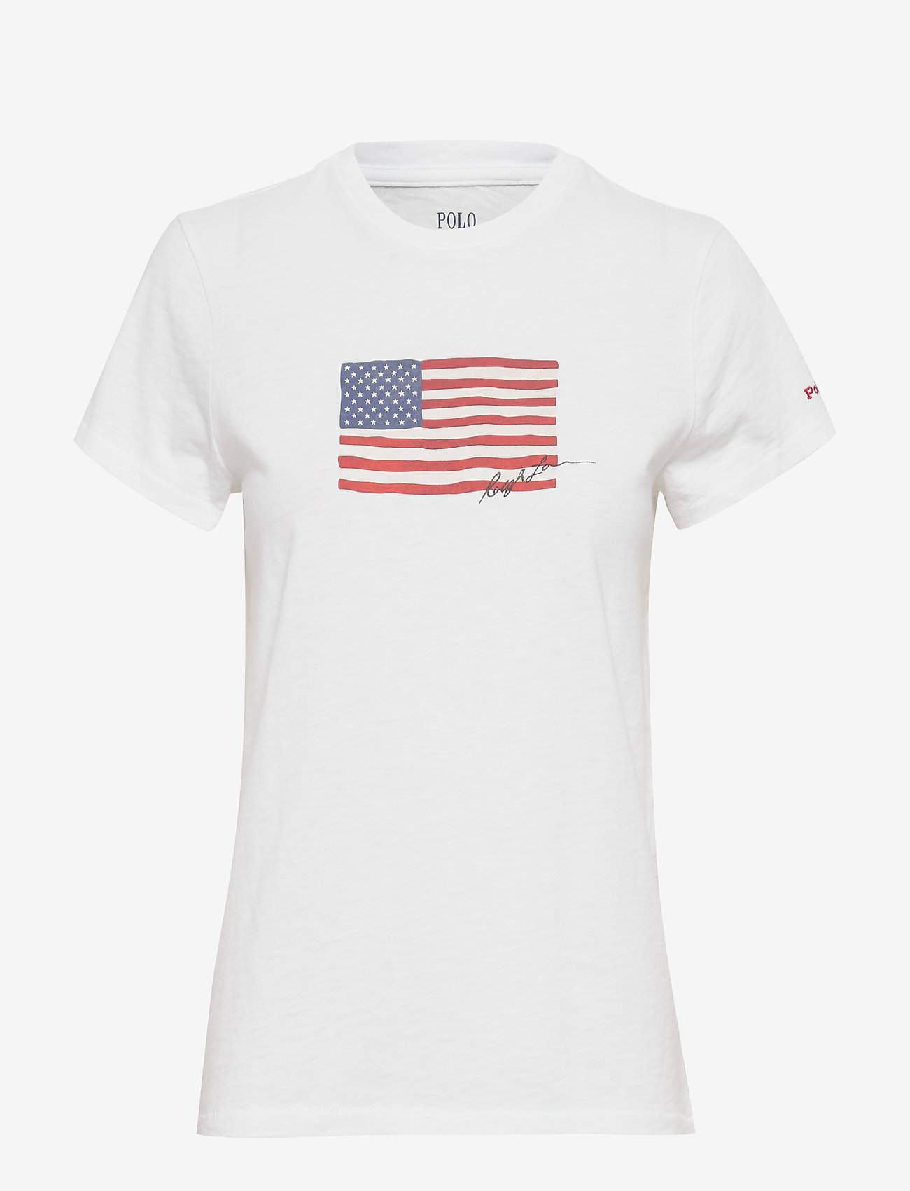 Polo Ralph Lauren - Flag Jersey Tee - t-shirts - white