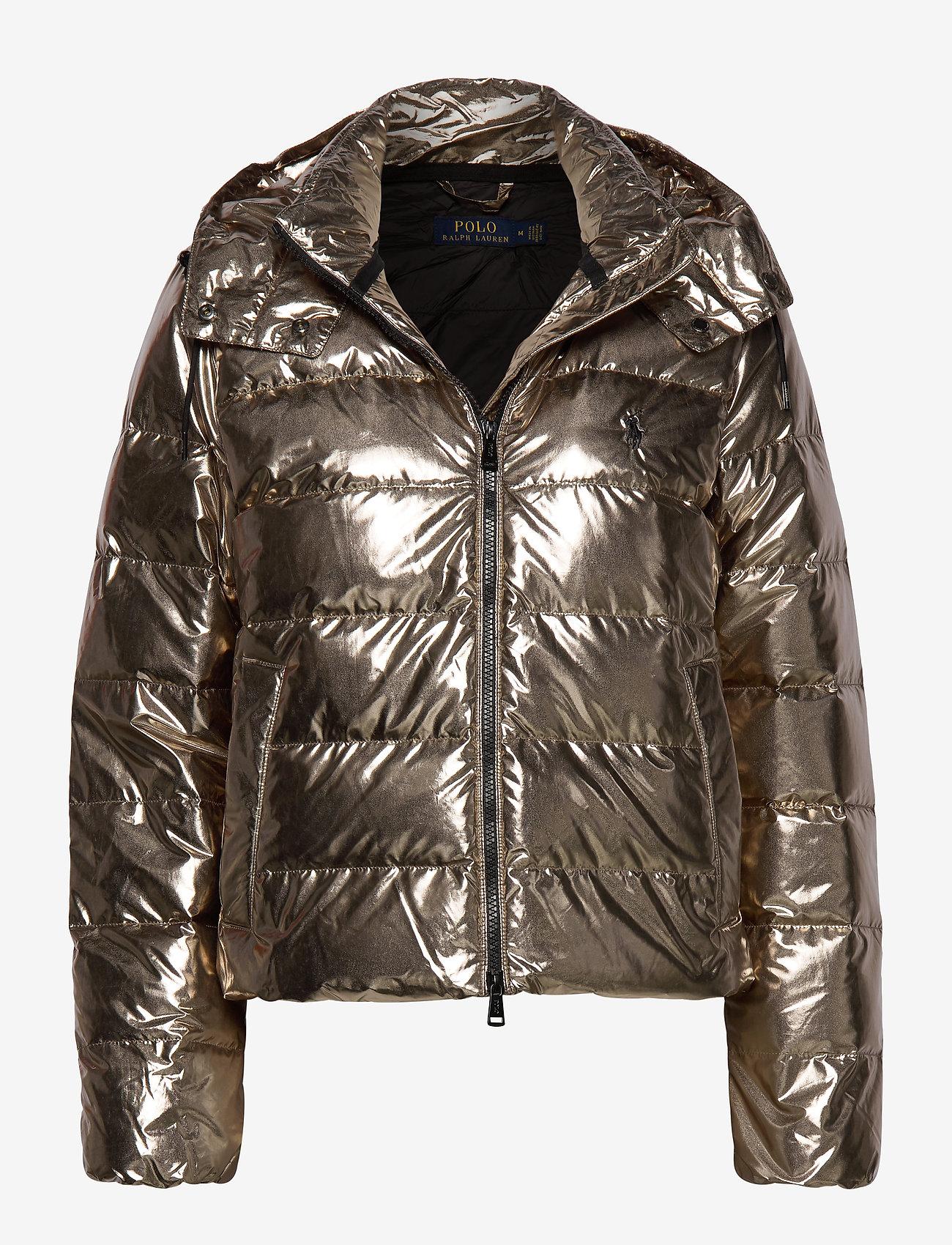 Polo Ralph Lauren - Metallic Down Jacket - padded jackets - olive pewter - 0