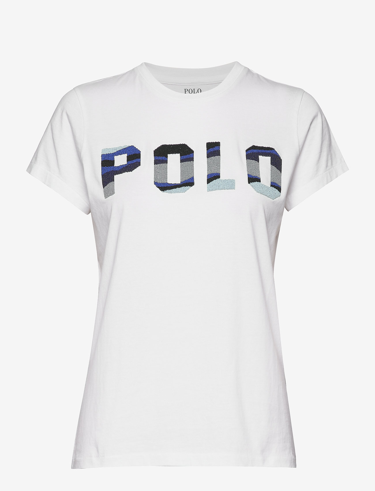 Polo Ralph Lauren - Beaded Polo Tee - t-shirty - white - 0