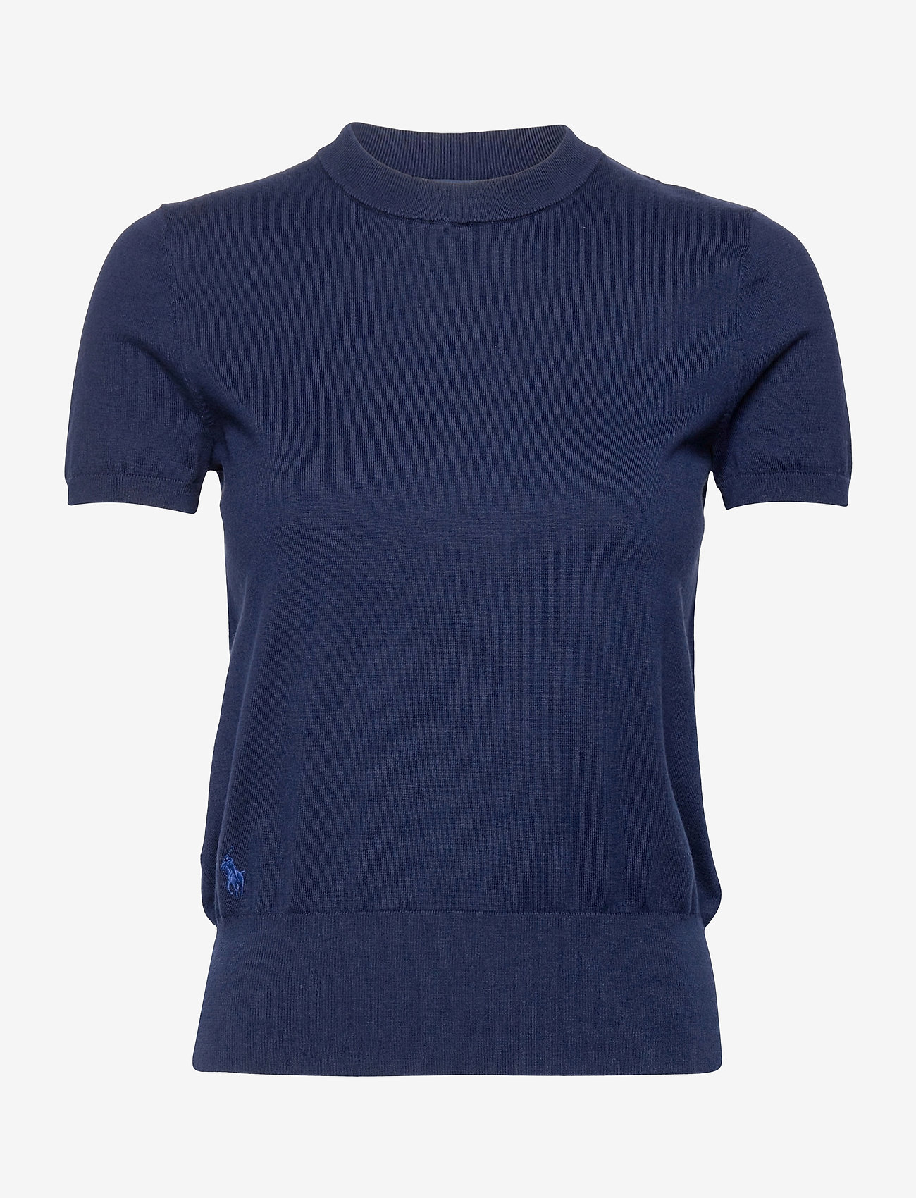 Polo Ralph Lauren - Cotton Short-Sleeve Sweater - strikkede toppe - bright navy - 1