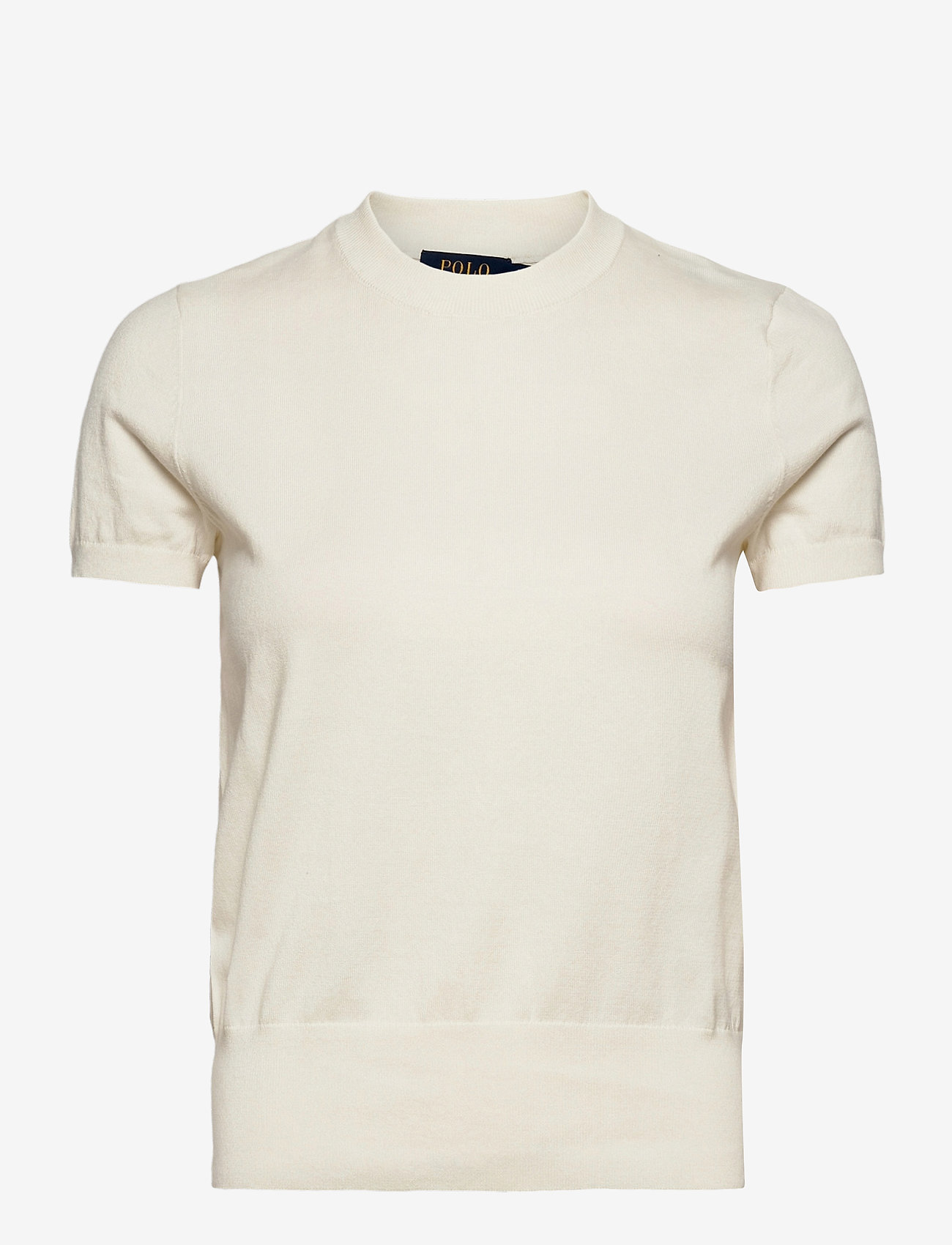 Polo Ralph Lauren - Cotton Short-Sleeve Sweater - knitted tops & t-shirts - collection cream - 1