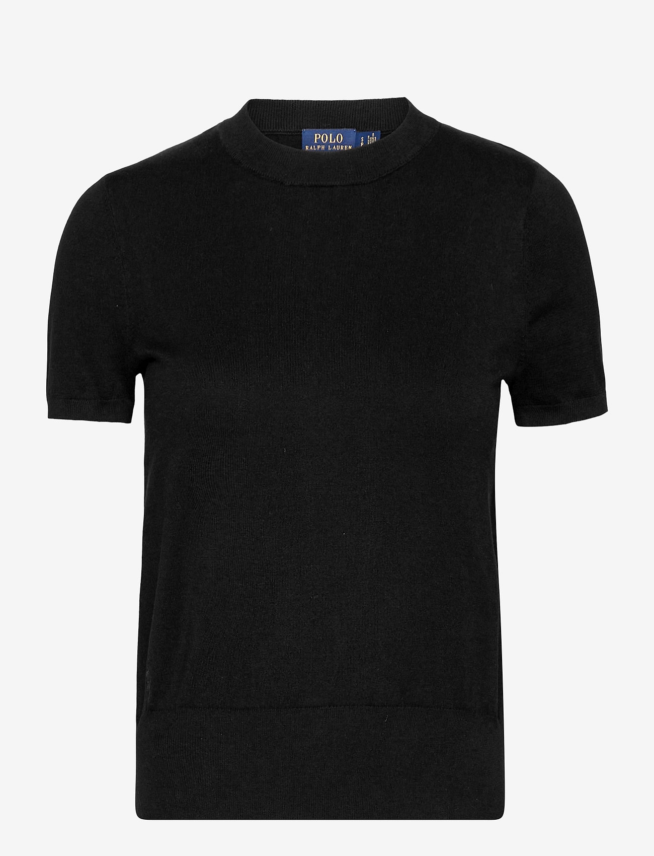 Polo Ralph Lauren - Cotton Short-Sleeve Sweater - knitted tops & t-shirts - polo black - 0
