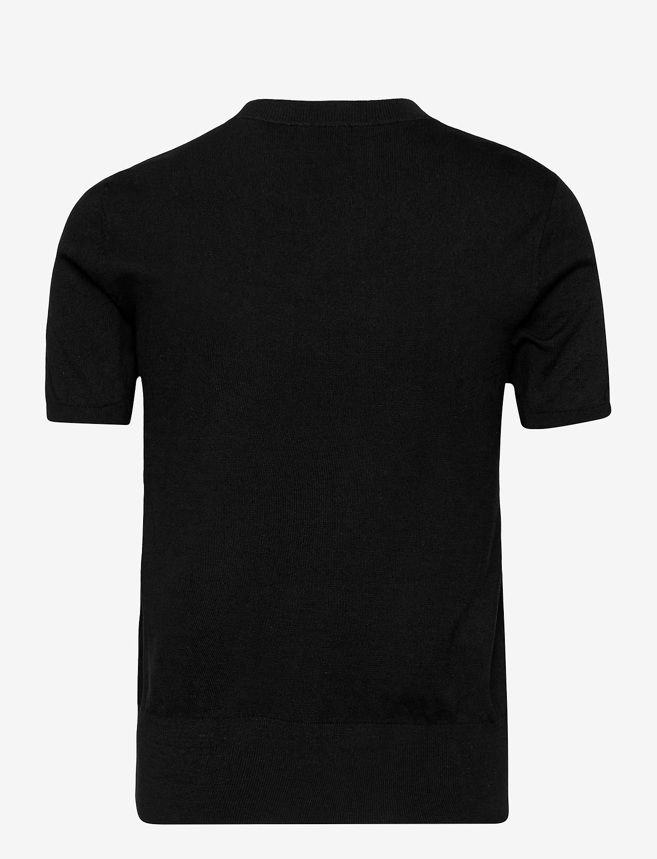 Polo Ralph Lauren - Cotton Short-Sleeve Sweater - knitted tops & t-shirts - polo black - 1