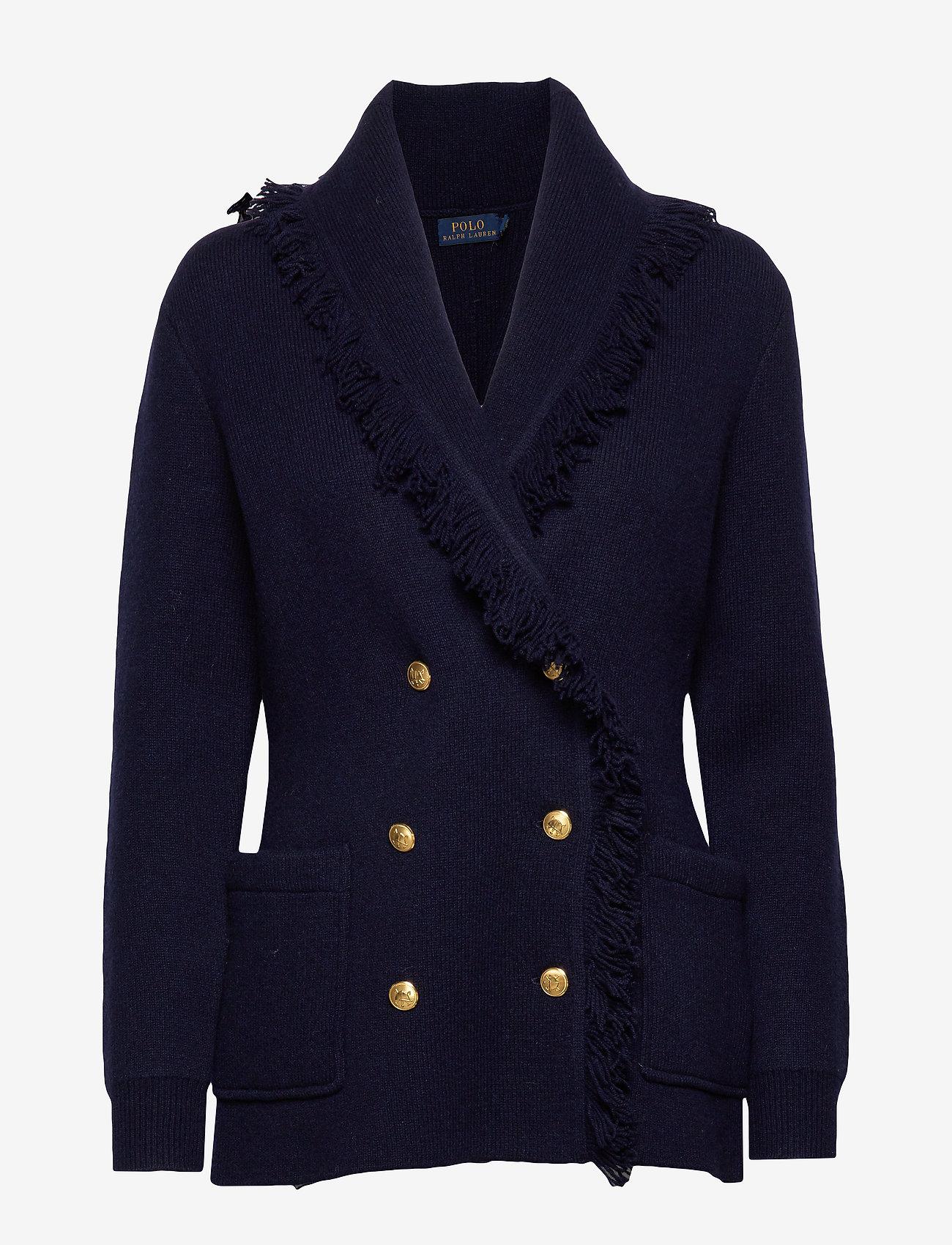 Polo Ralph Lauren - Wool-Blend Sweater Blazer - wełniane kurtki - hunter navy - 0