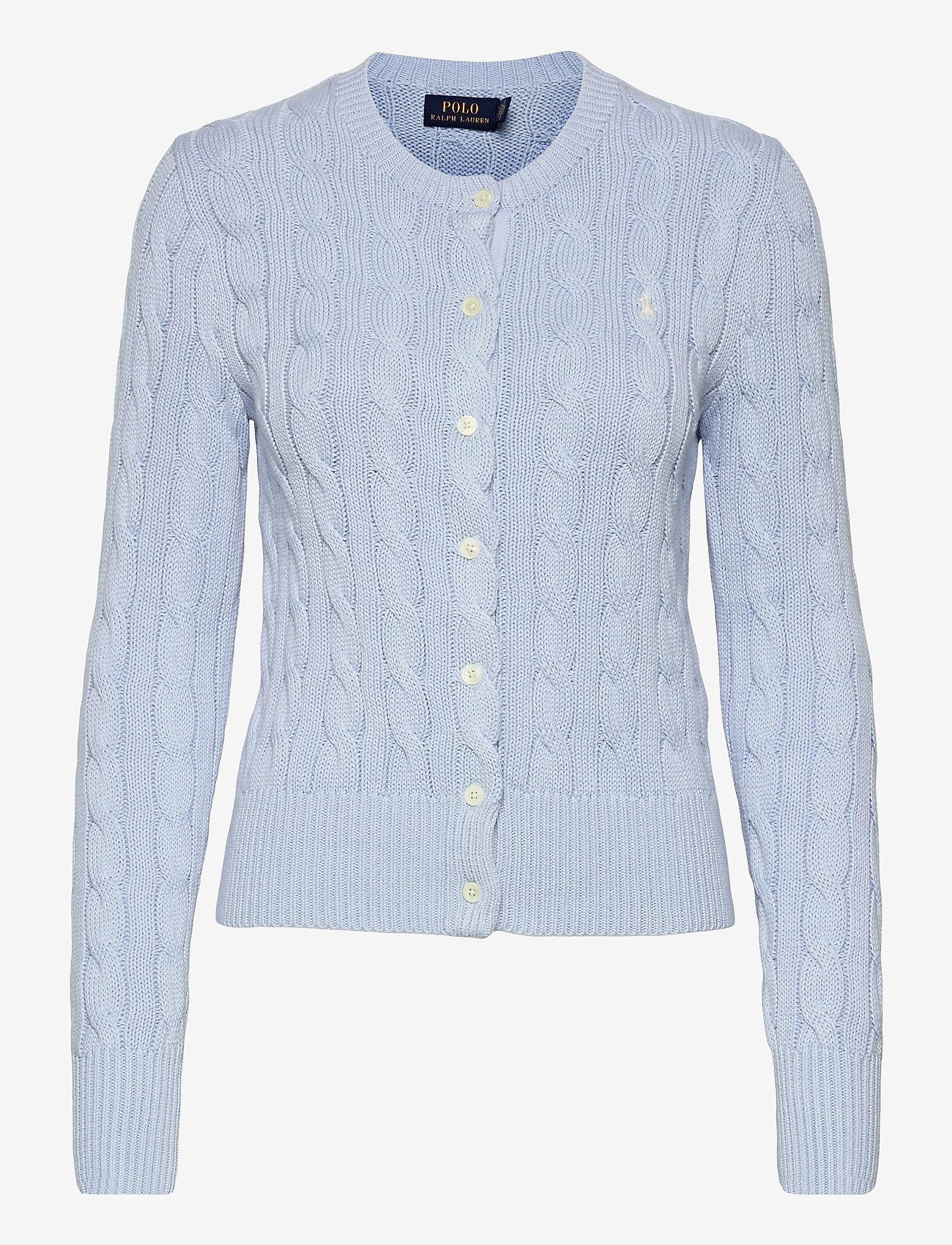 Polo Ralph Lauren - Cable-Knit Cotton Cardigan - cardigans - pale blue - 1