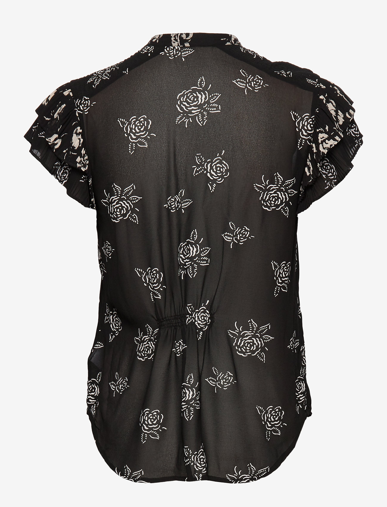 Rose-print Crepe Blouse (Black/white Flora) - Polo Ralph Lauren cLboTC