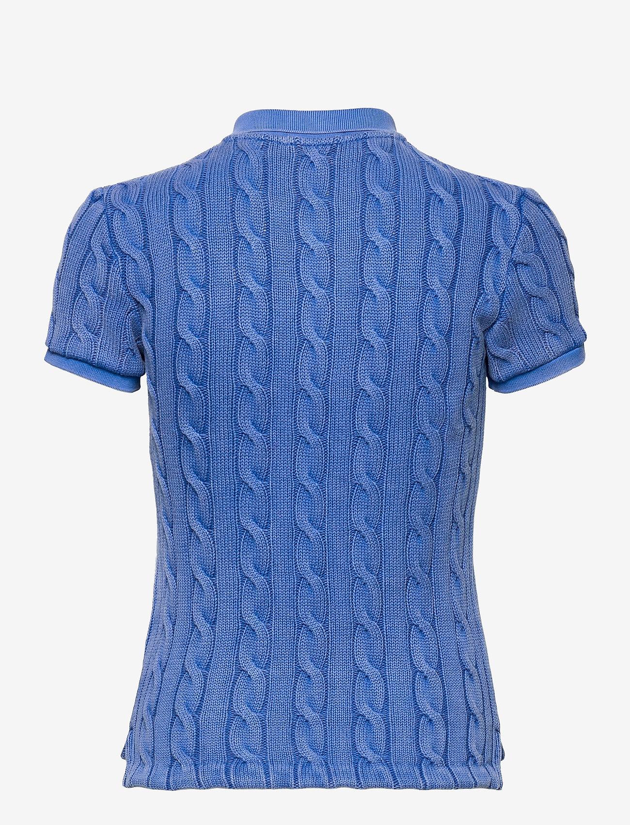 Polo Ralph Lauren - Cable-Knit Polo Shirt - polohemden - keel blue - 1