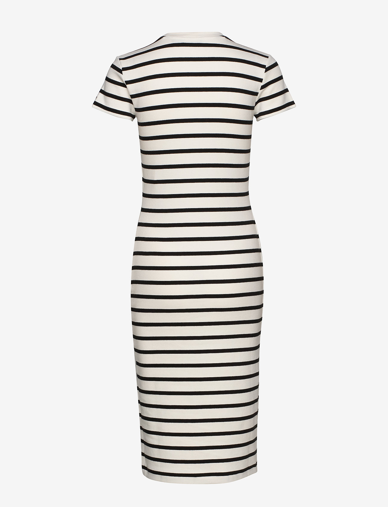 Polo Ralph Lauren - Striped Cotton Dress - midi dresses - nevis/ polo black