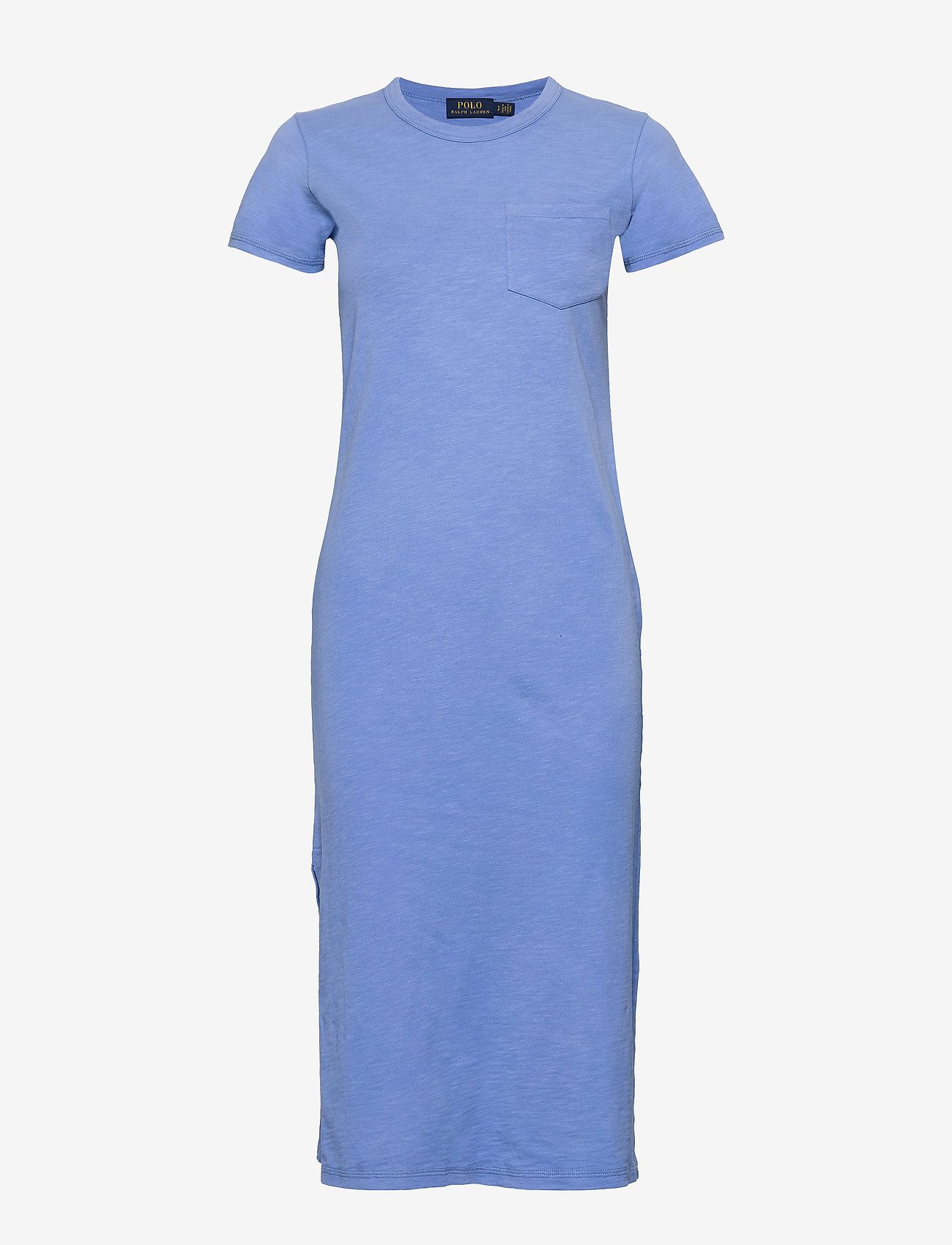 Polo Ralph Lauren - 20/1 UNEVEN CTN JRS-SSL-CSD - midi dresses - harbor island blu - 0